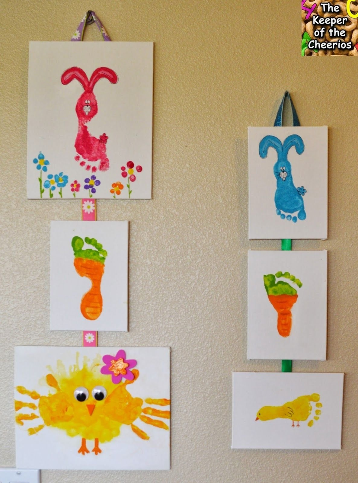 10 Fashionable Easter Arts And Crafts Ideas the keeper of the cheerios easter hand and footprint crafts 2021