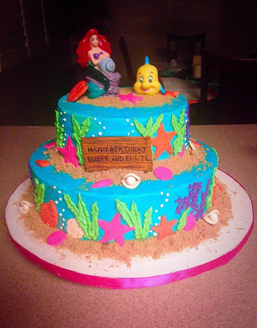 10 Nice Under The Sea Cake Ideas the little mermaid under the sea cake cakecentral 2021