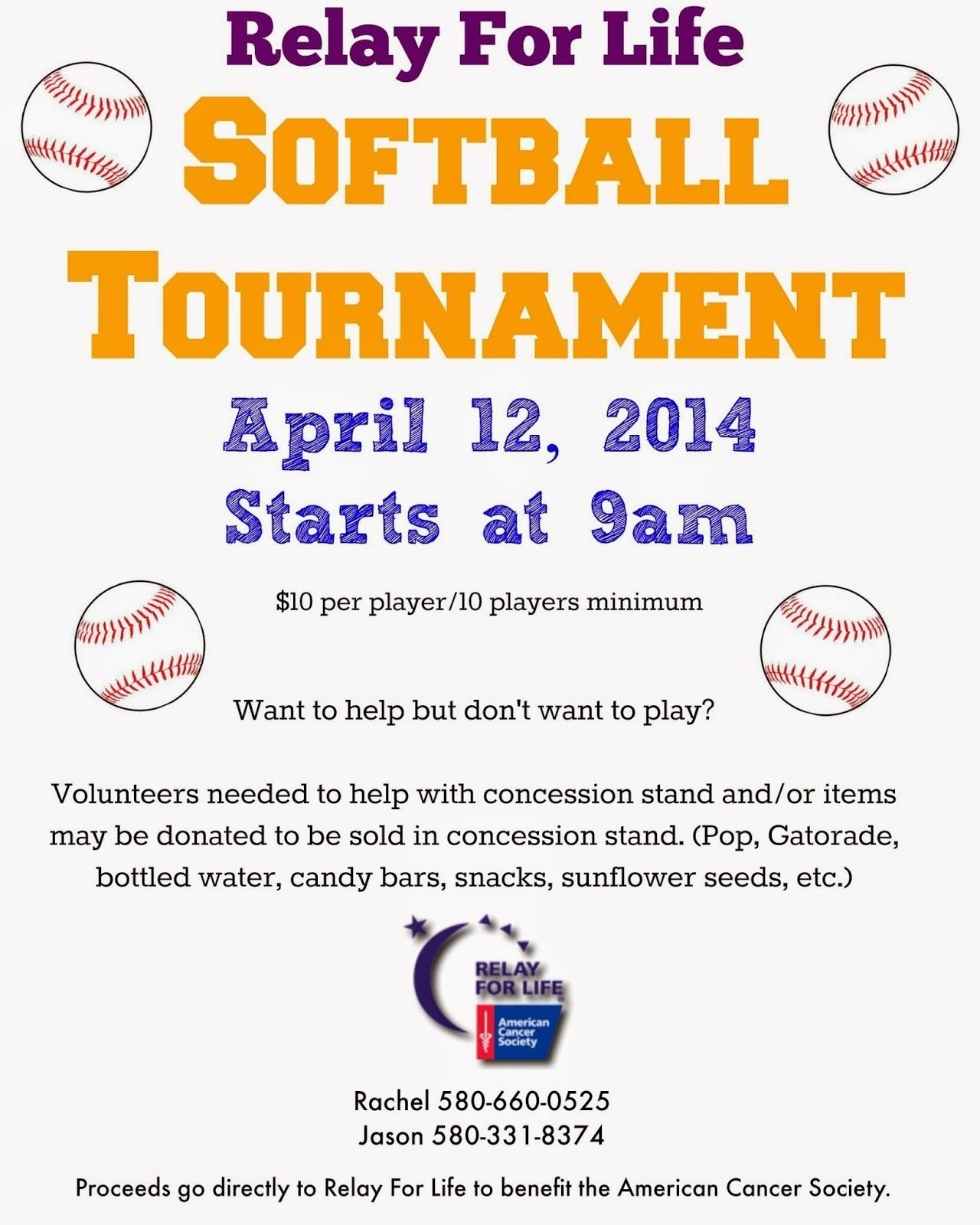 10 Attractive Fundraising Ideas For Softball Teams the little things in life relay for life softball tournament 2020