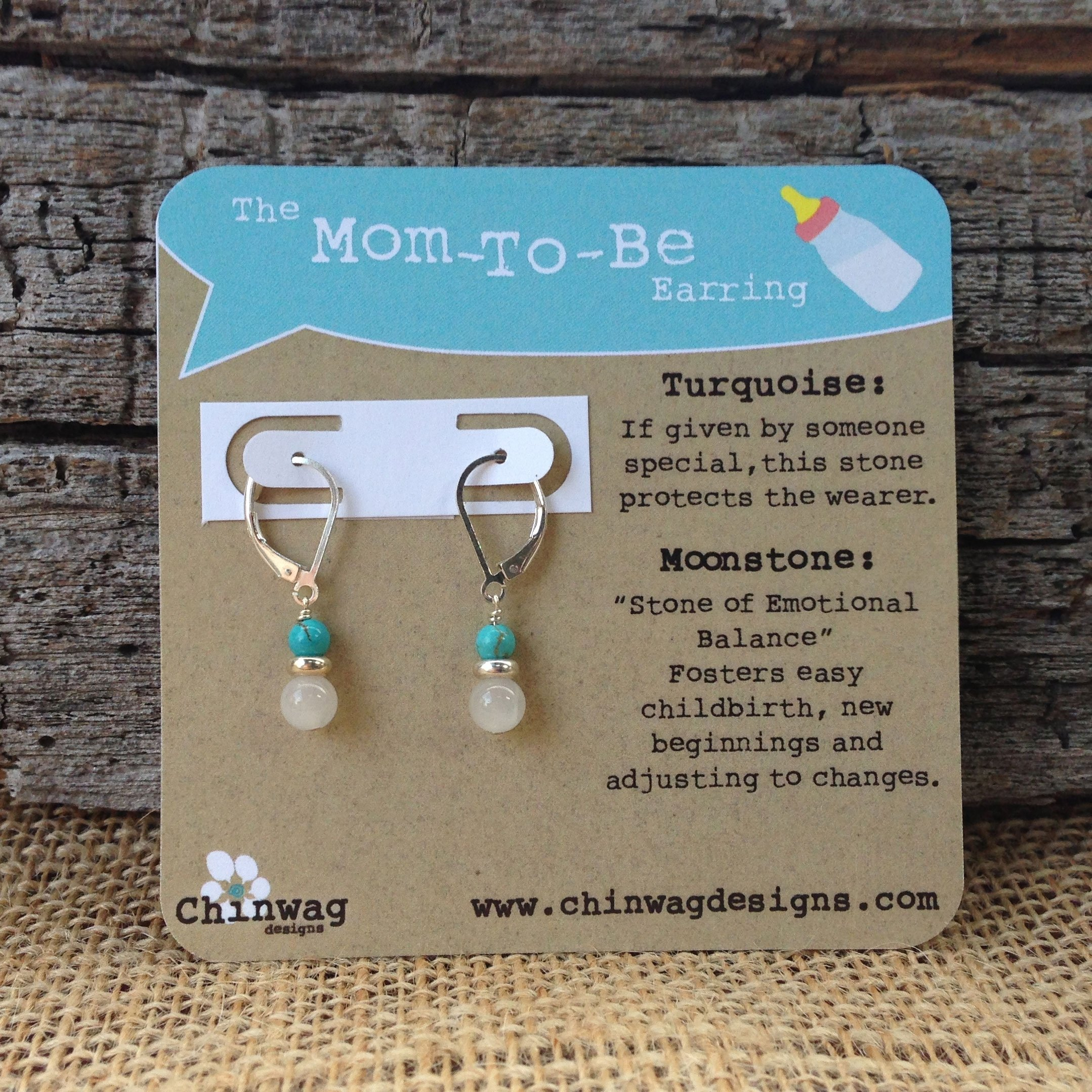 the mom to be earring | chinwag designs