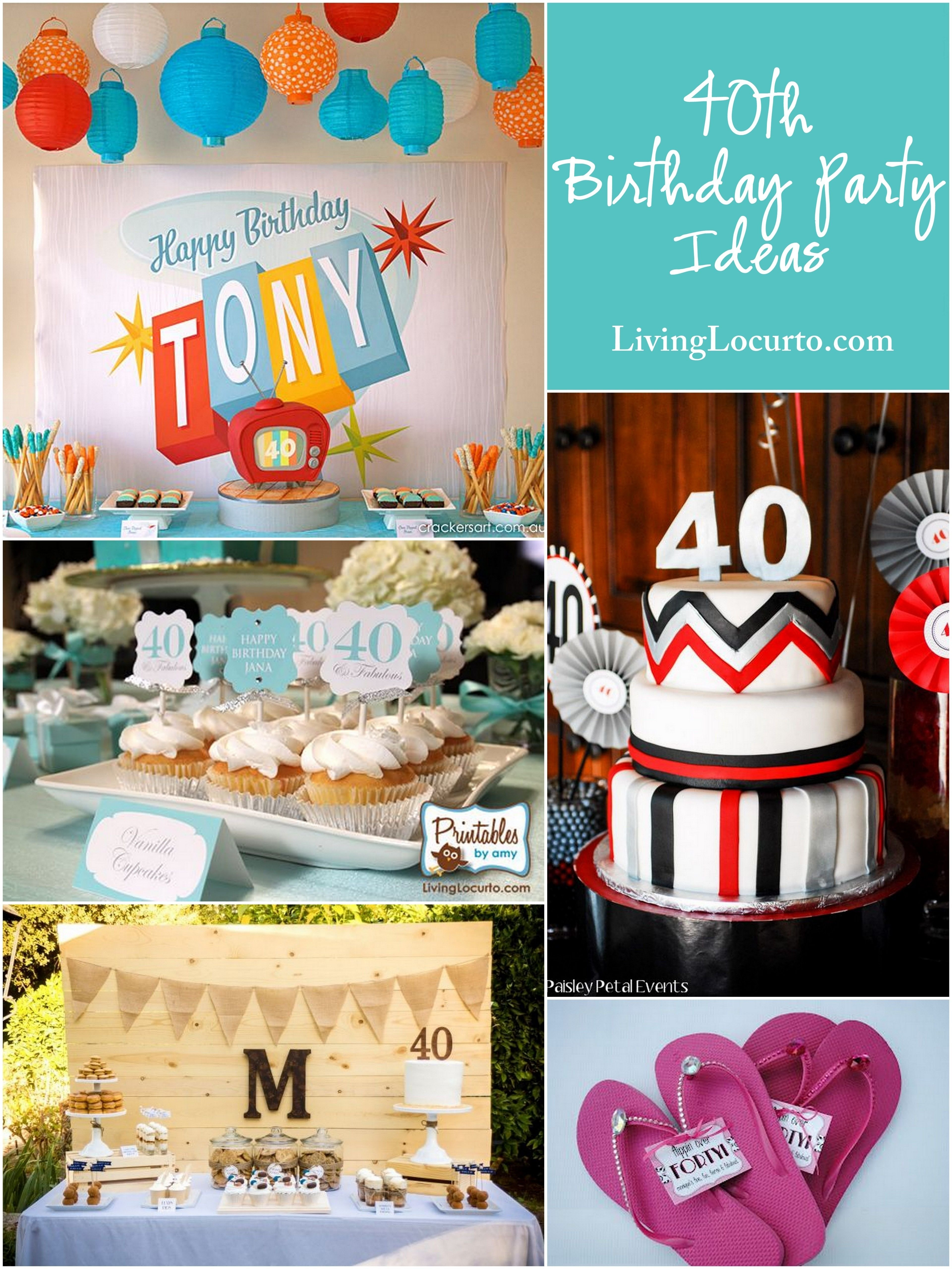 10 Famous Fun 40Th Birthday Party Ideas the most amazing hip bright and fun 40th party ideas these great 1 2020