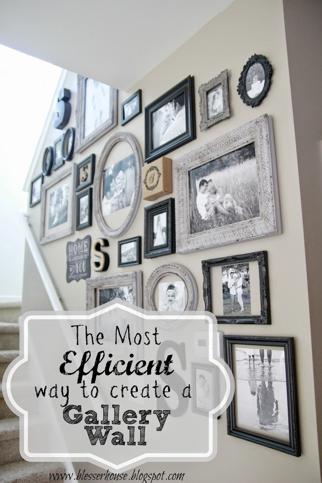 10 Most Popular Wall Of Picture Frames Ideas the most efficient way to create a gallery wall blesser house 2020