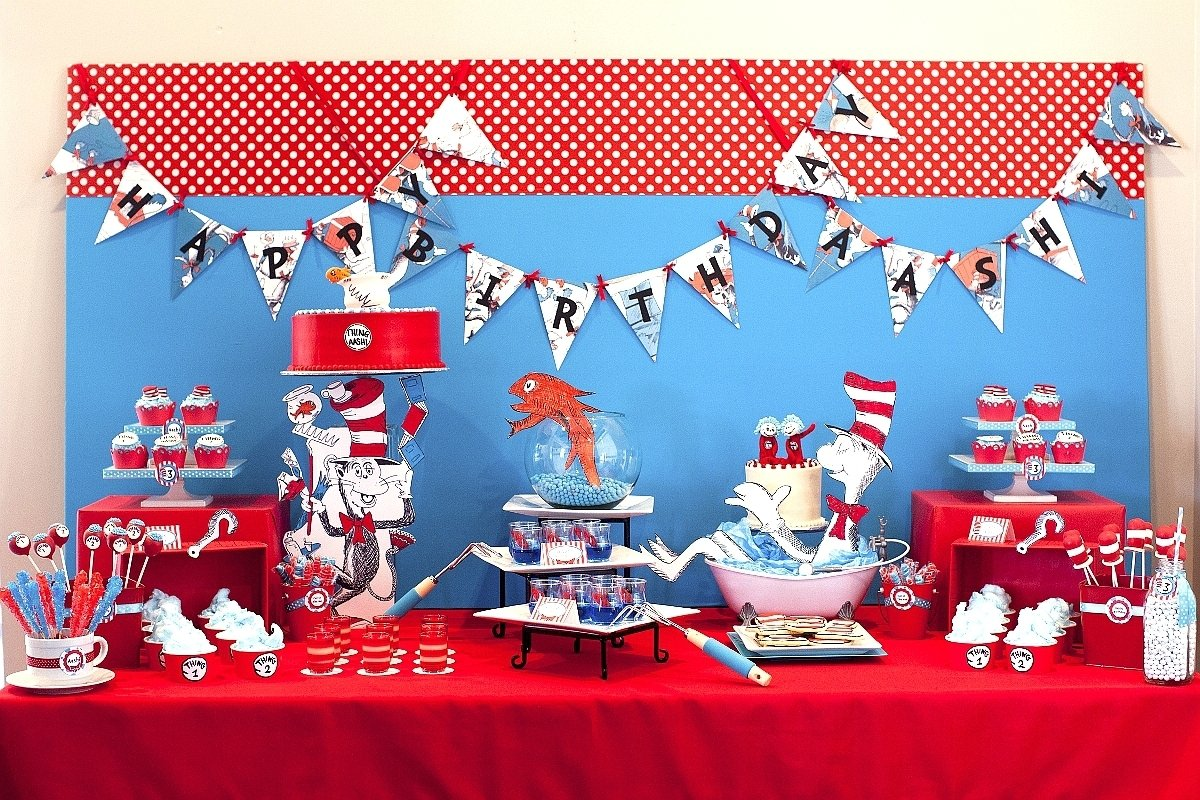 10 Beautiful Cat In The Hat Birthday Party Ideas the party wall cat in the hat inspired birthday 2 2020