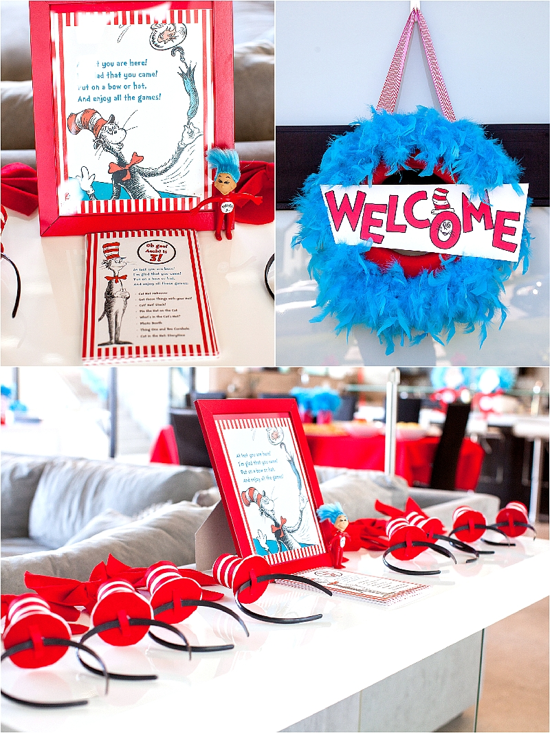 10 Beautiful Cat In The Hat Birthday Party Ideas the party wall cat in the hat inspired birthday 4 2020