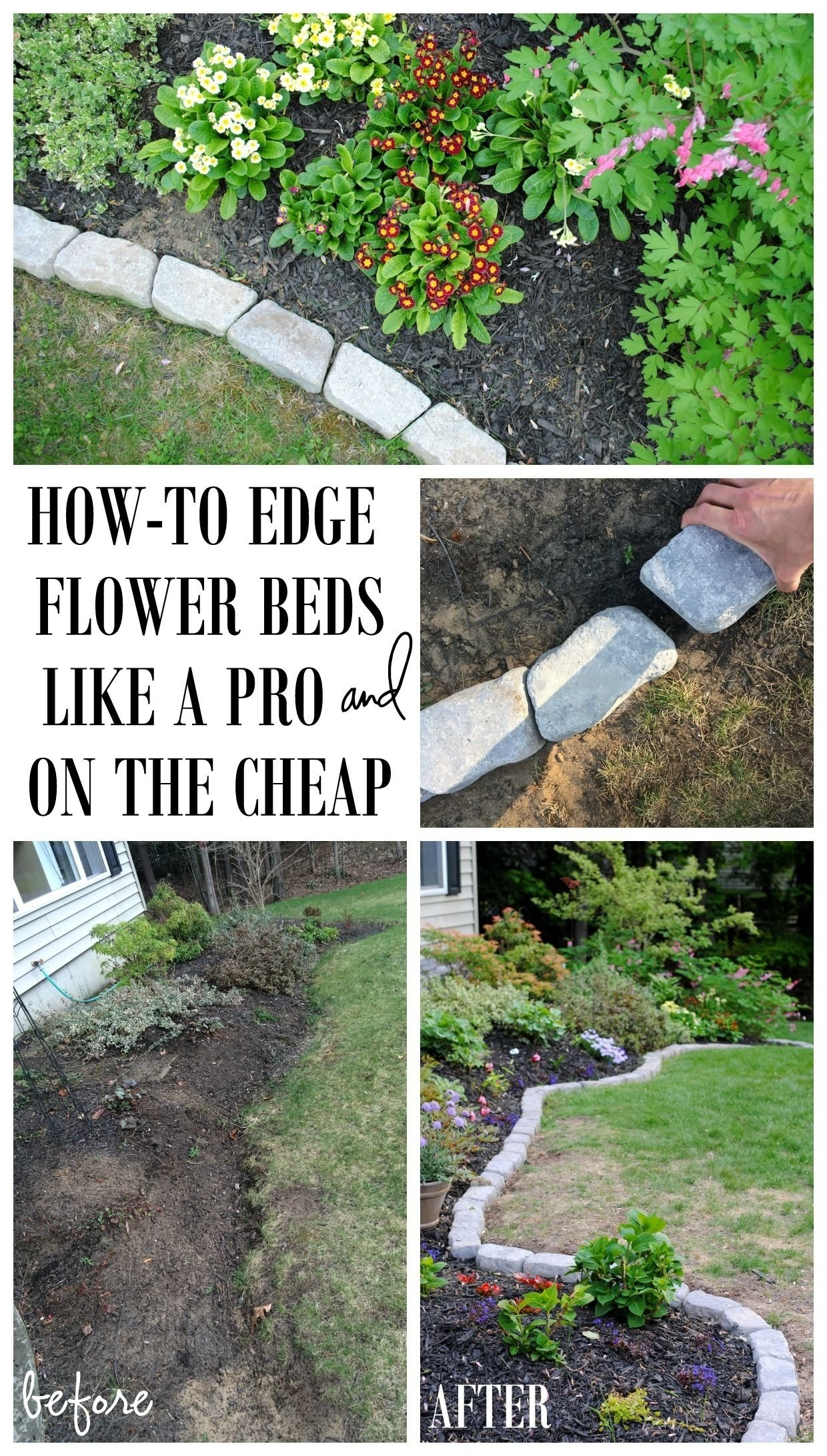 10 Perfect Garden Ideas On A Budget the perfect border for your beds defining a gardens edge with 2 2021