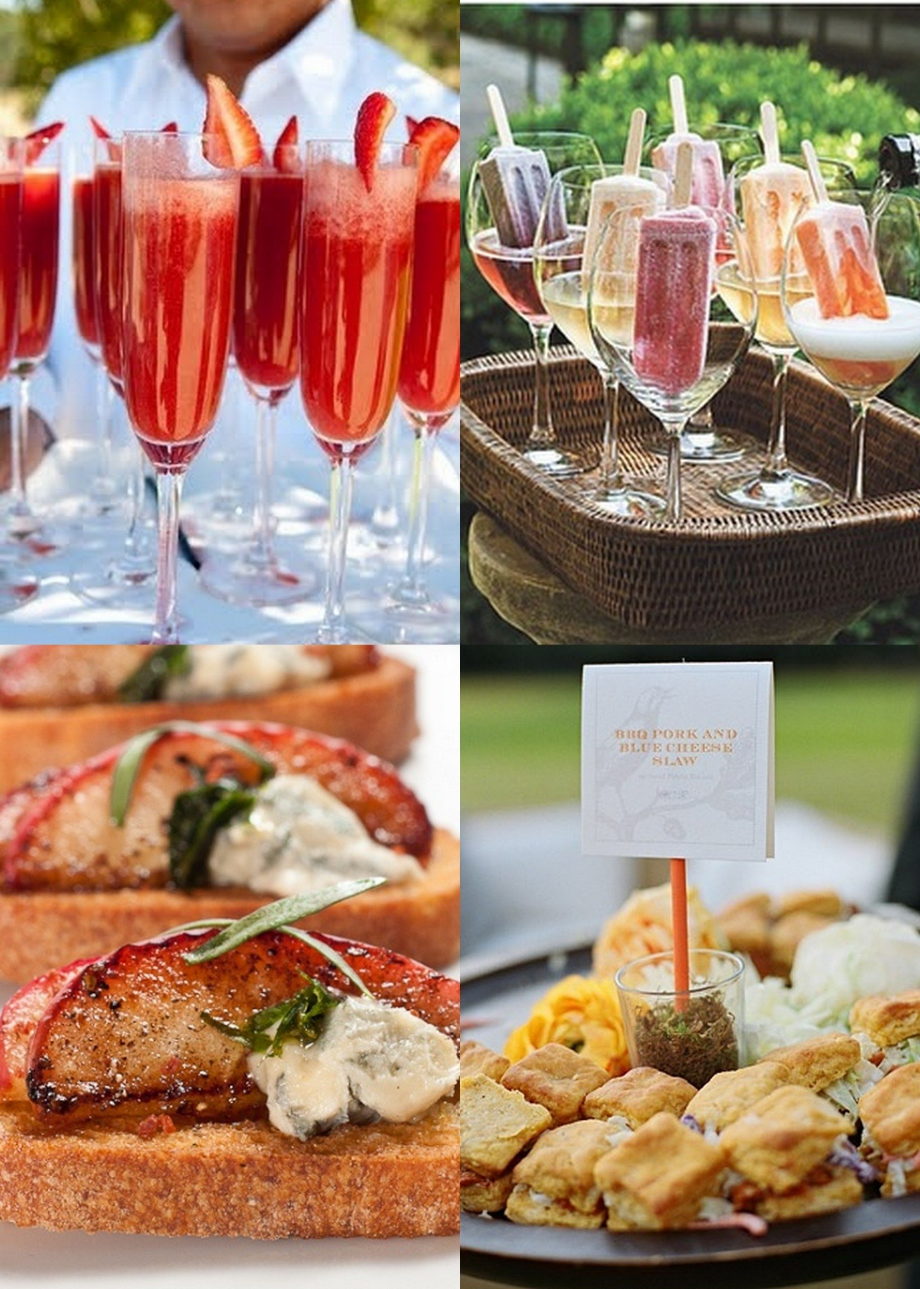 the perfect brunch wedding series: menus