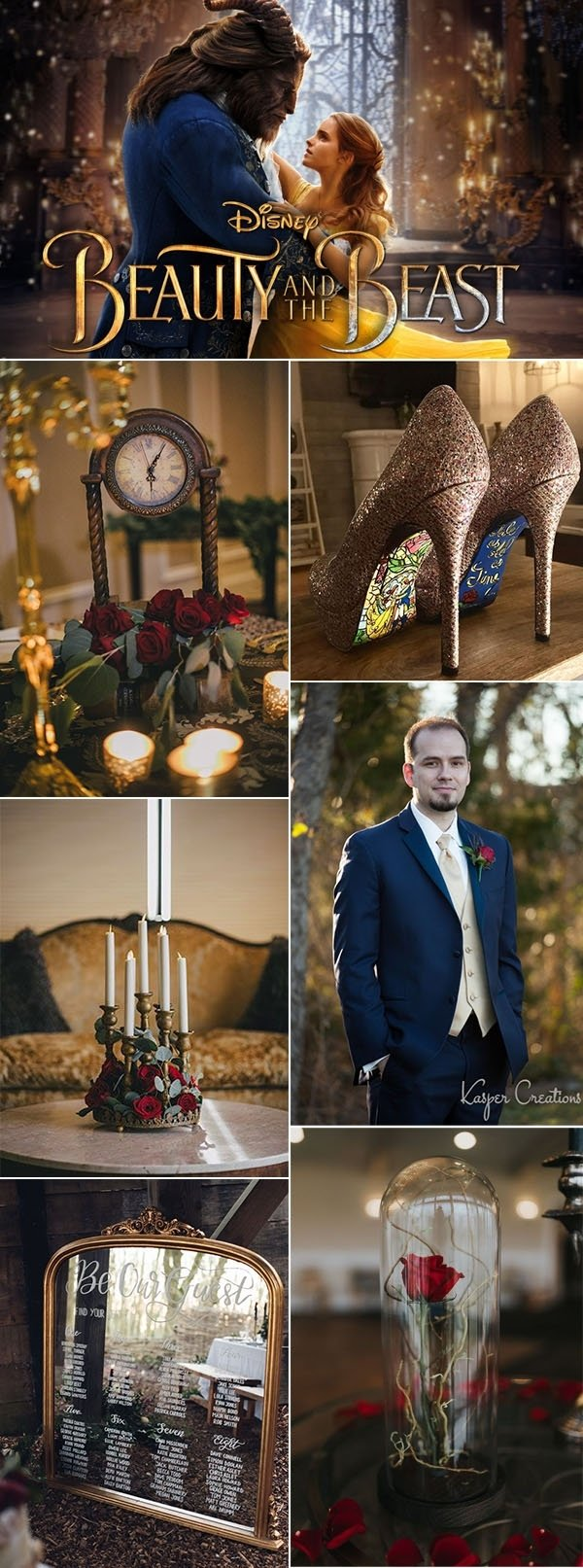 10 Gorgeous Beauty And The Beast Wedding Theme Ideas the perfect glitter and sparkle winter wedding ideascolor and