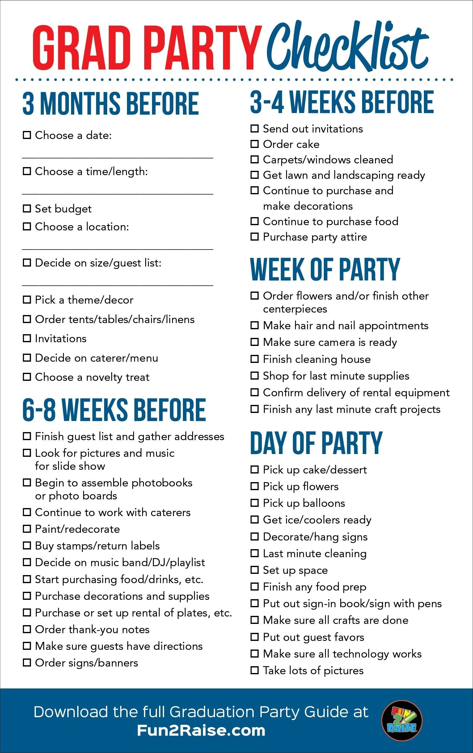 10 Wonderful High School Graduation Project Ideas the perfect grad party checklist for more helpful tips on planning