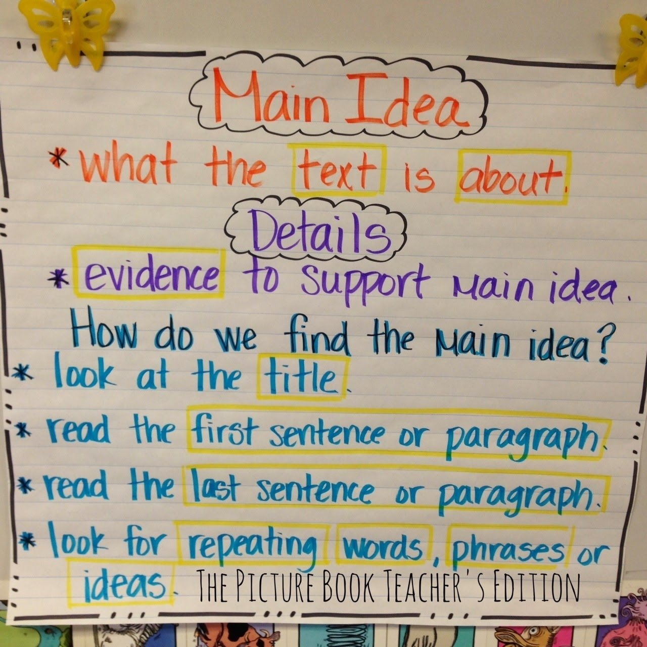 10 Unique How To Find The Main Idea the picture book teachers edition the importance of main idea 1 2020