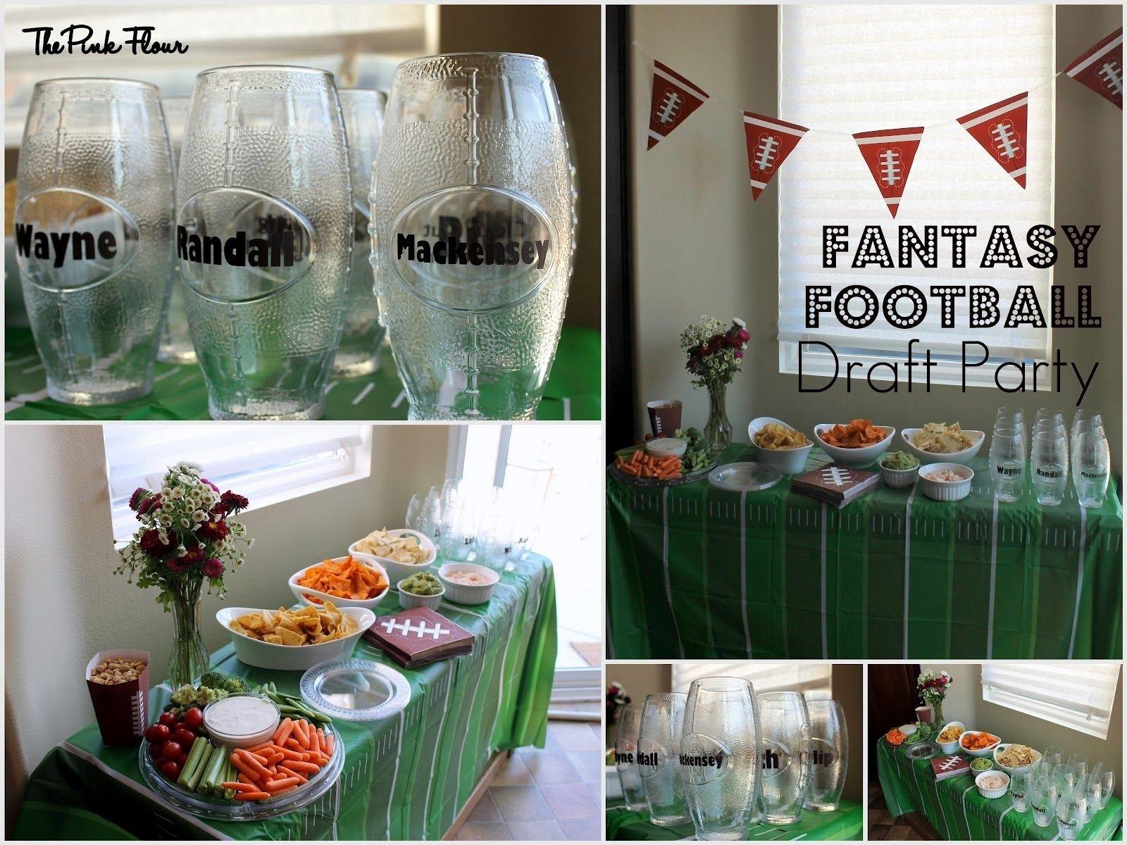 10 Elegant Fantasy Football Draft Party Ideas the pink flour parties fantasy football draft party football 2020
