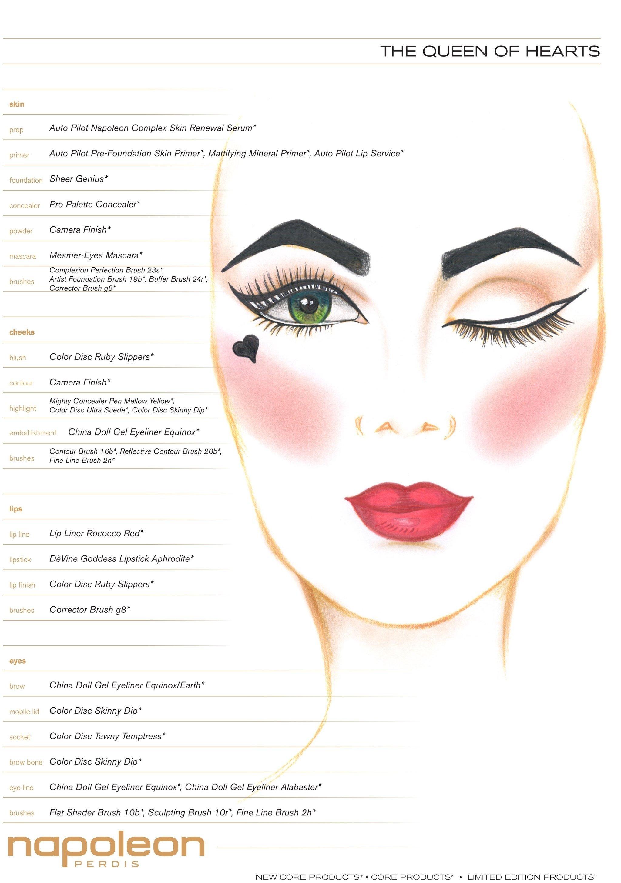 10 Trendy Queen Of Hearts Makeup Ideas the queen of hearts pictures of napoleon perdiss halloween makeup
