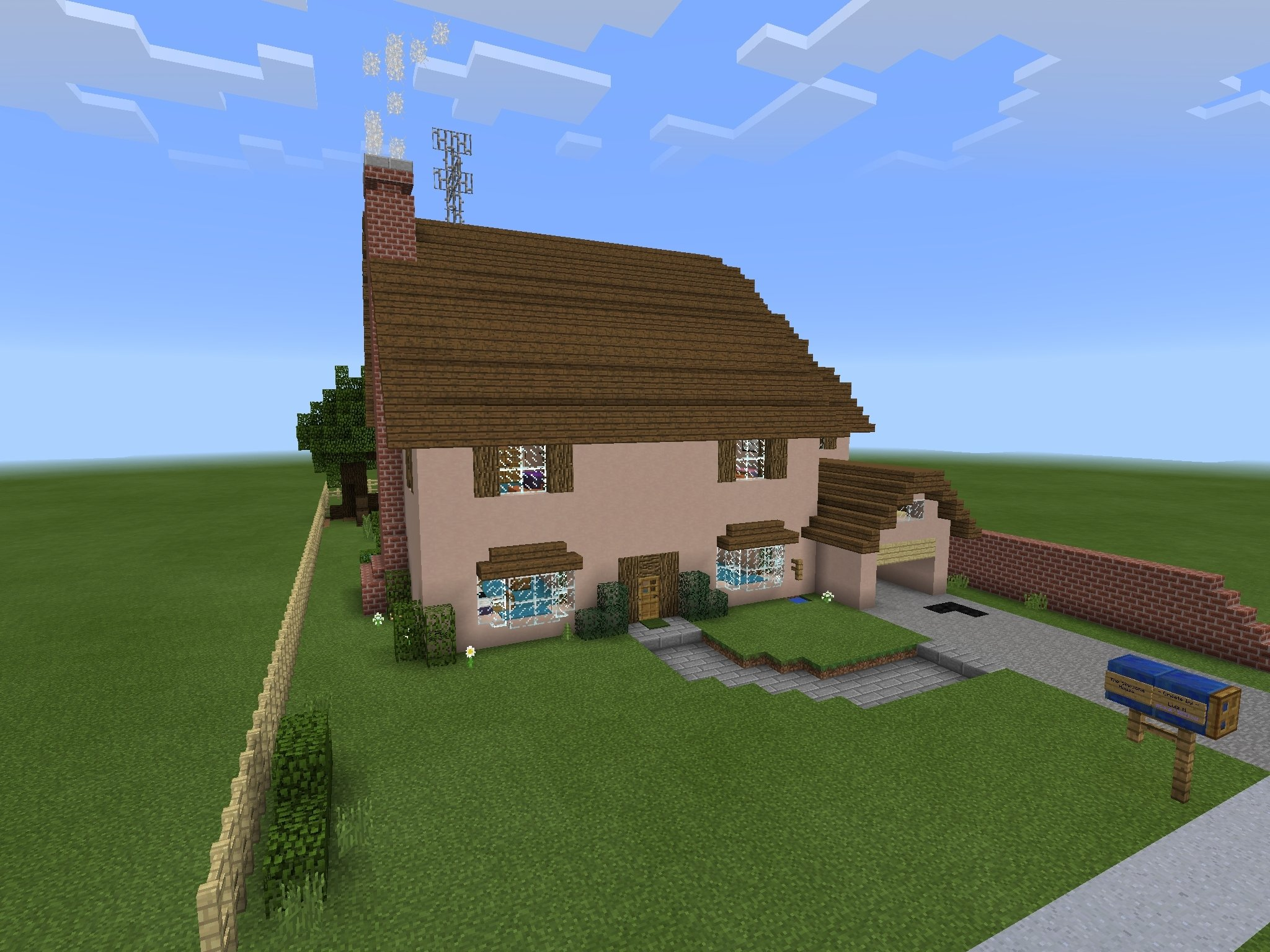 10 Most Popular House Ideas For Minecraft Pe the simpsons house minecraft pe minecraft mcpe minecraft 1 2020