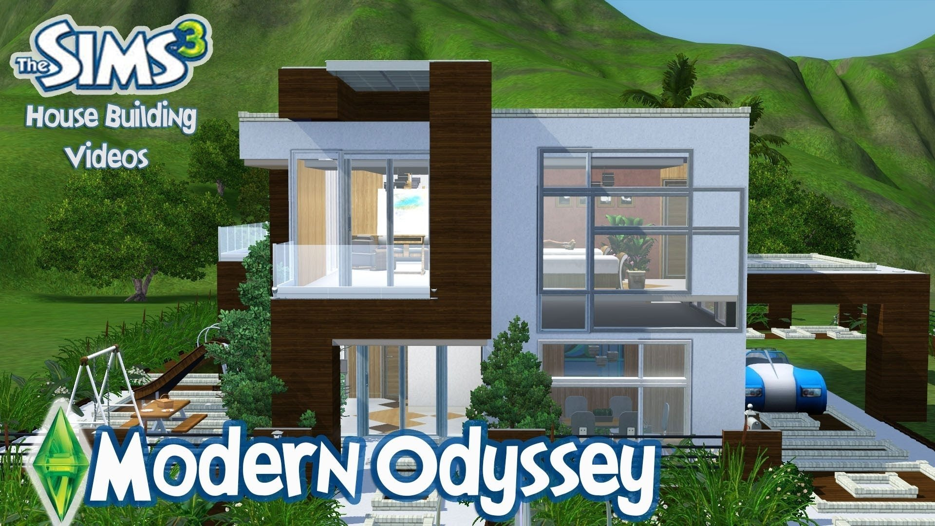 10 Stylish House Ideas For Sims 3 the sims 3 house designs modern odyssey youtube 2021