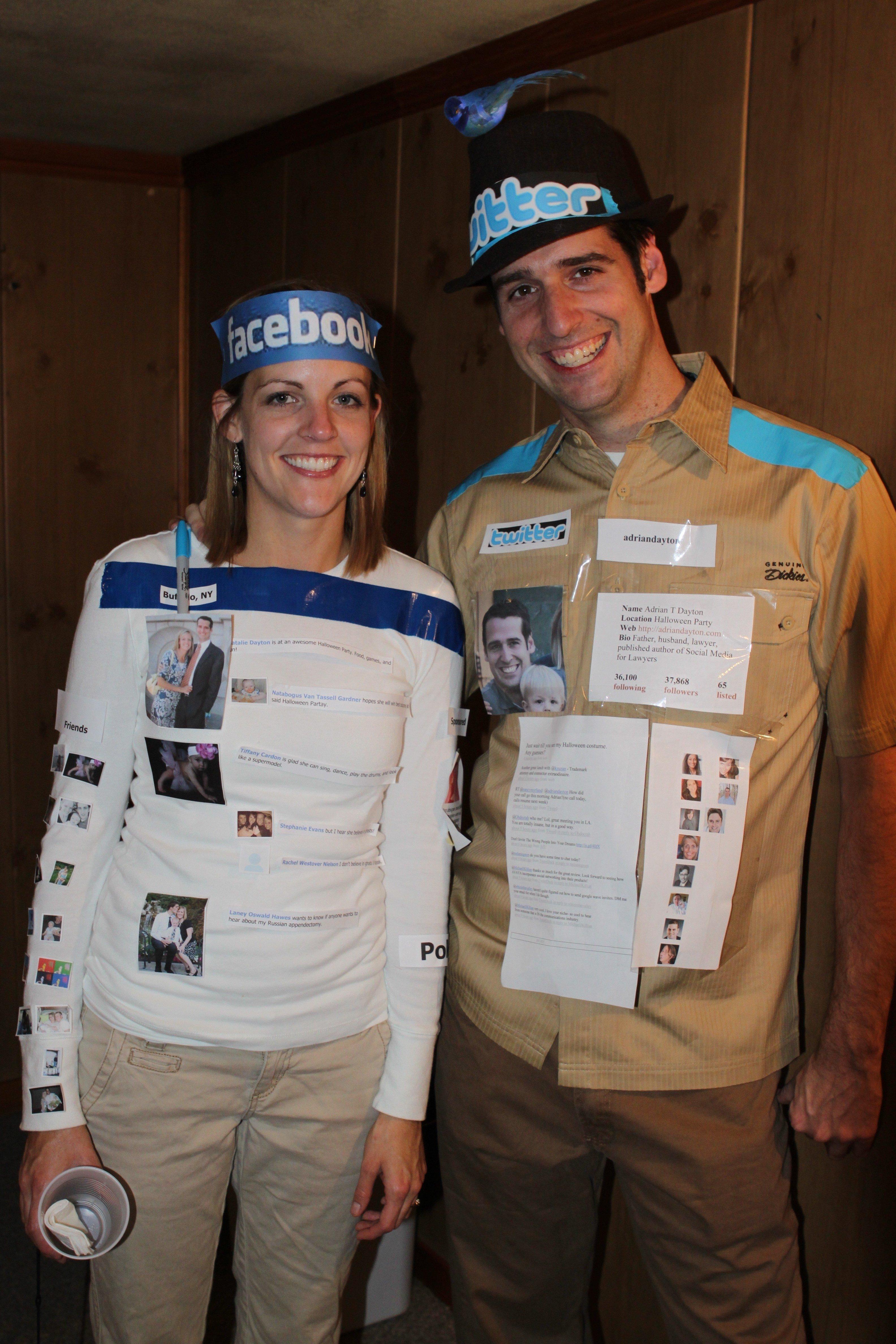 10 Stunning Creative Funny Halloween Costume Ideas the social media couple costume 1 2020