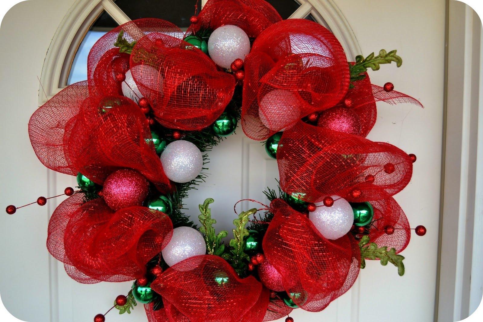 10 Lovely Christmas Deco Mesh Wreath Ideas the sparacino chronicles christmas deco mesh wreath tutorial 2020