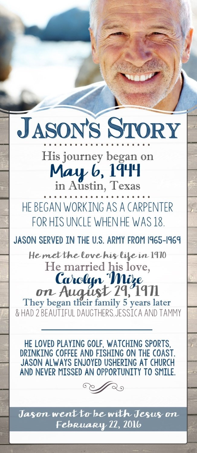 the story: in memory of | celebration of life | funeral program