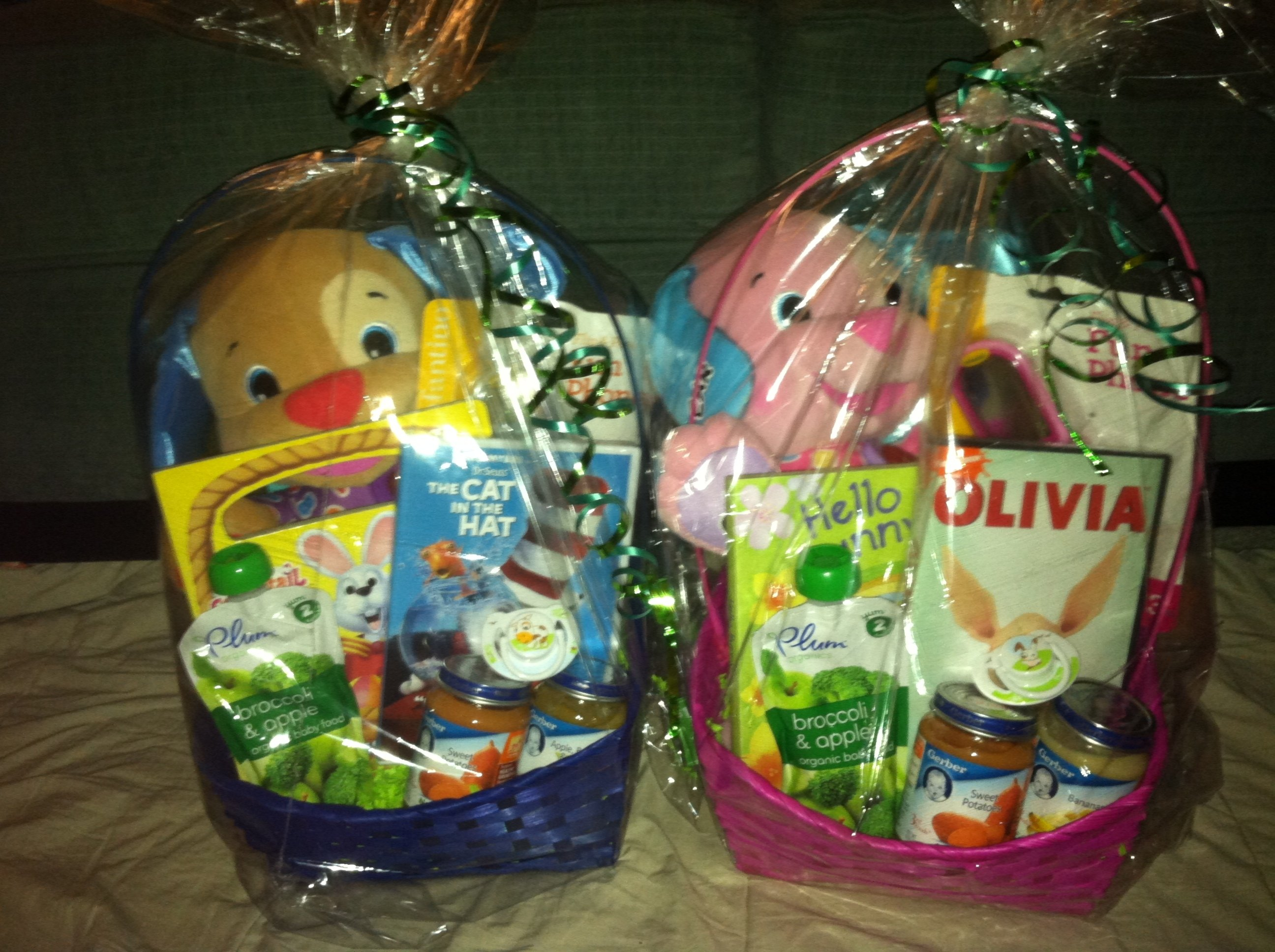10 Great Easter Basket Ideas For Babies the twins first easter baskets easter baskets easter and twins 2021