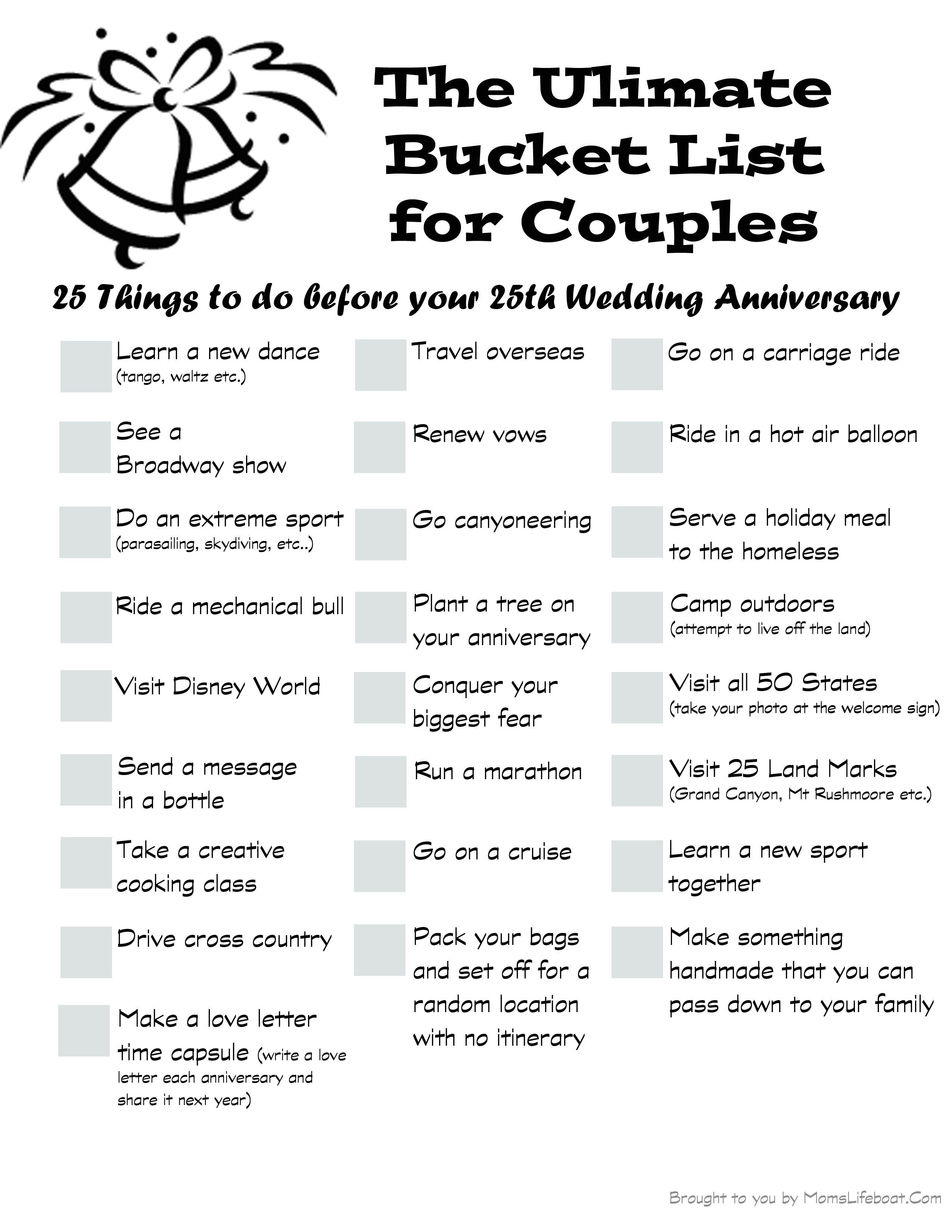 the ultimate bucket list for couples | buckets, couples and