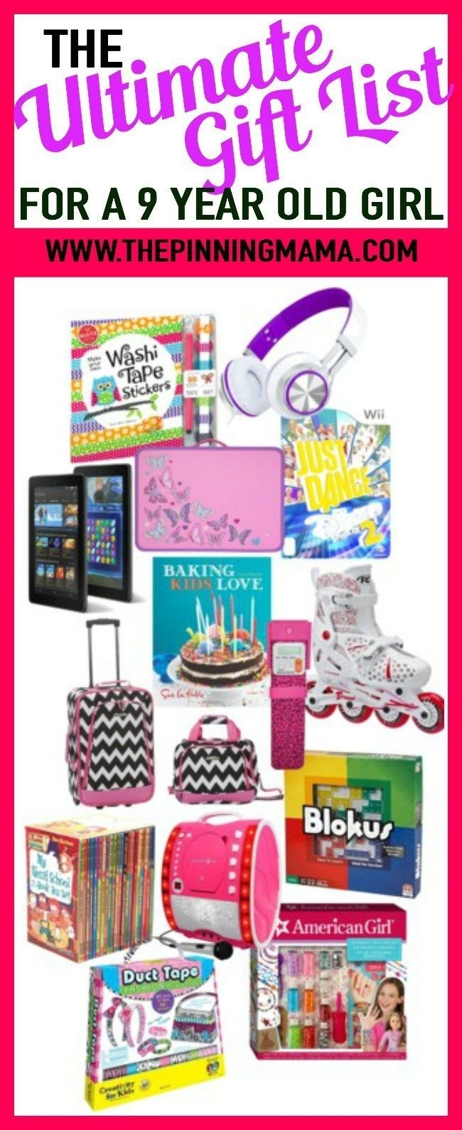 the ultimate gift list for a 9 year old girl | top toys girls age 9