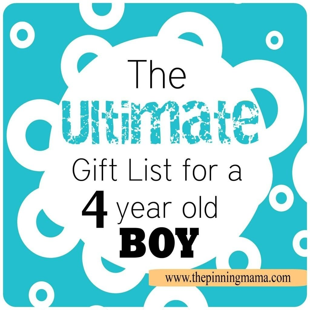 10 Perfect Birthday Gift Ideas For 4 Year Old Boy