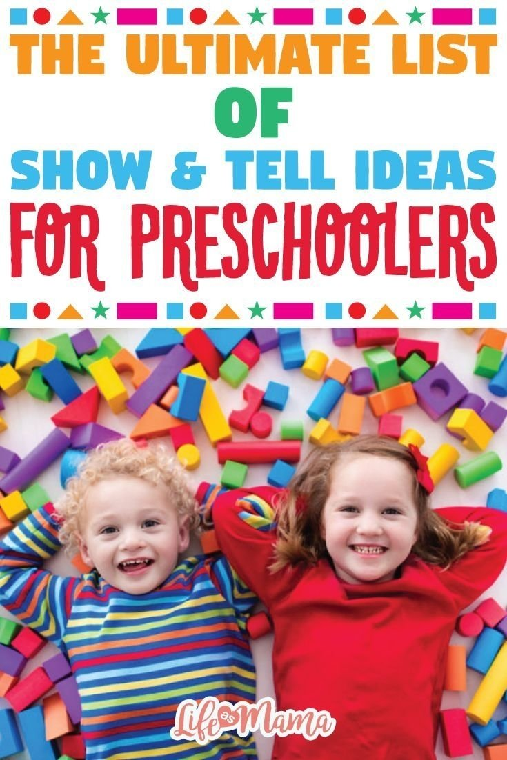 the ultimate list of show & tell ideas for preschoolers | school