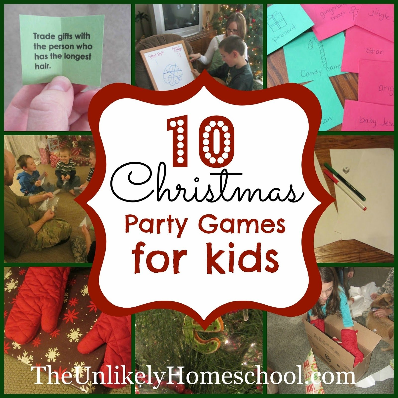 10 Unique Christmas Game Ideas For Kids the unlikely homeschool 10 christmas party games for kids
