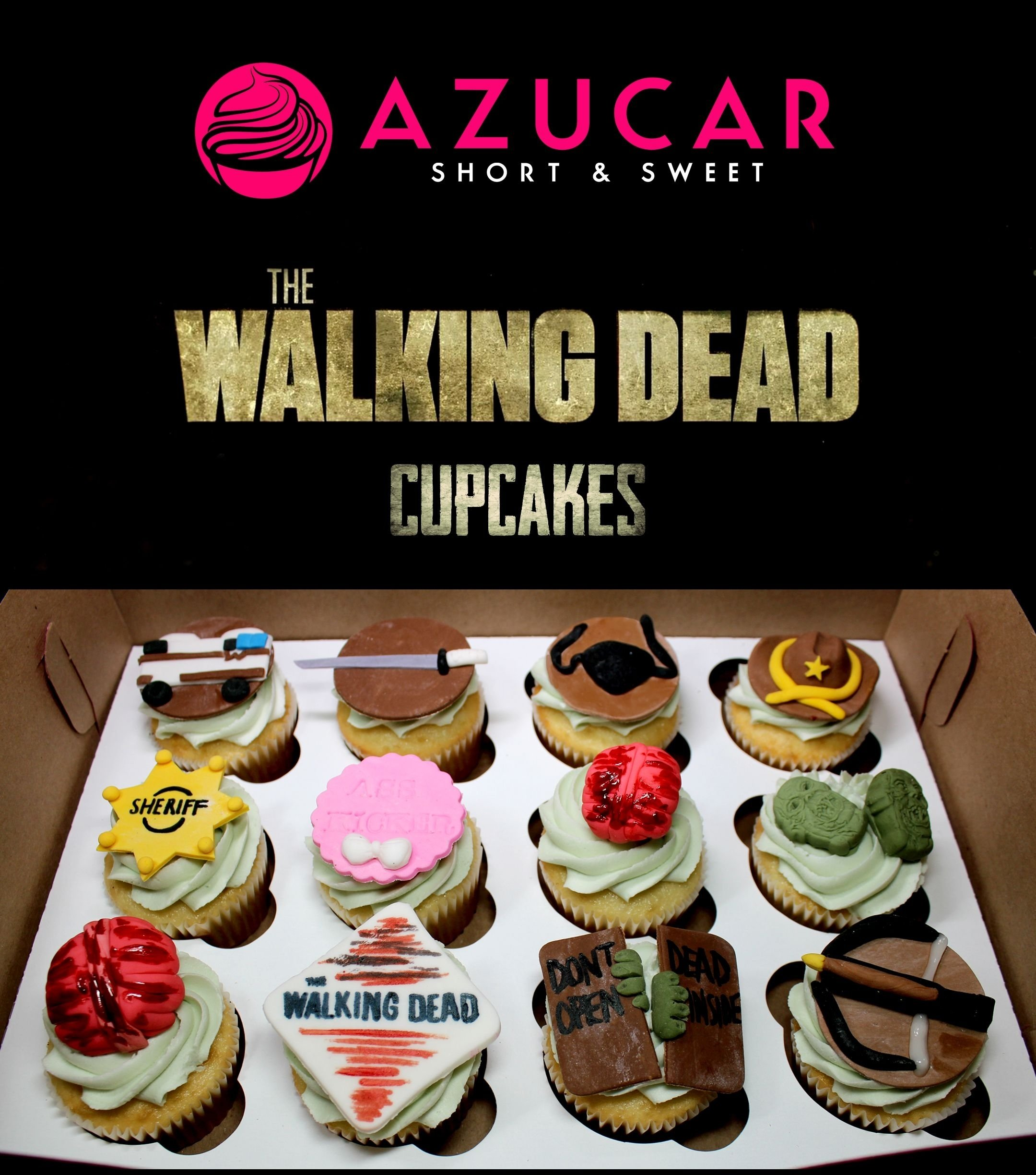 the walking dead cupcakes a perfect b-day gift to myself to start