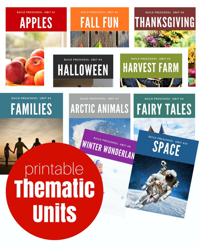10 Attractive Thematic Unit Ideas For Preschool thematic units for preschool digital downloads no time for 2020