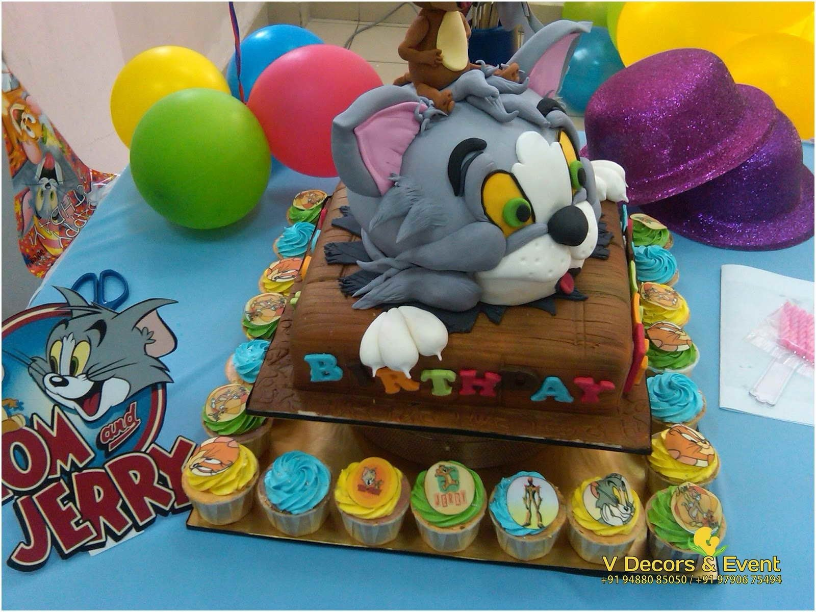 10 Lovely Tom And Jerry Birthday Party Ideas themed birthday tom and jerry decorations pondicherrytom jerry 2021
