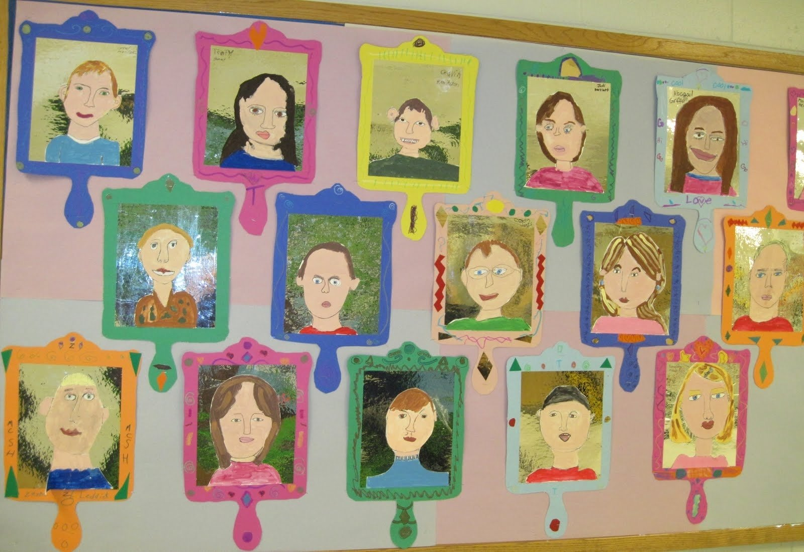 there's a dragon in my art room: self-portraits,awesome 3rd graders!