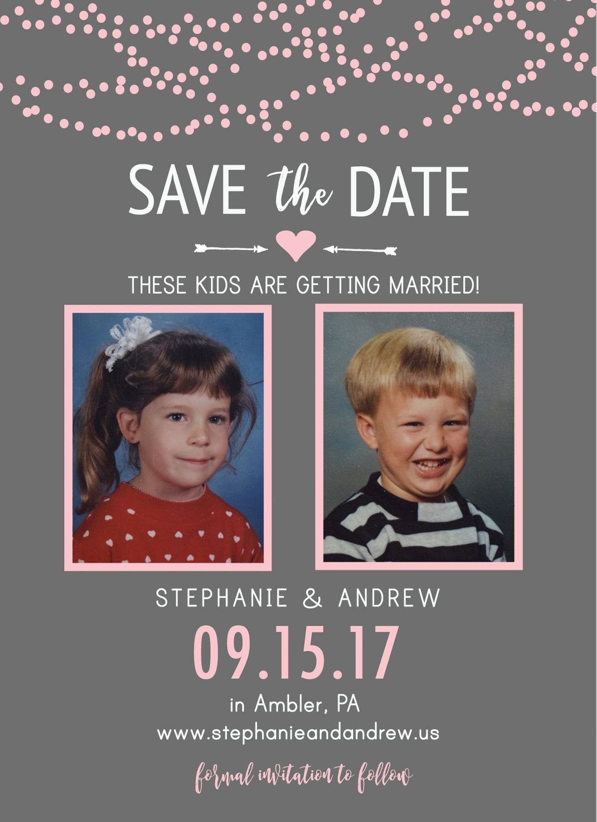 10 Amazing Cute Save The Date Ideas these kids are getting married save the date throwback save the