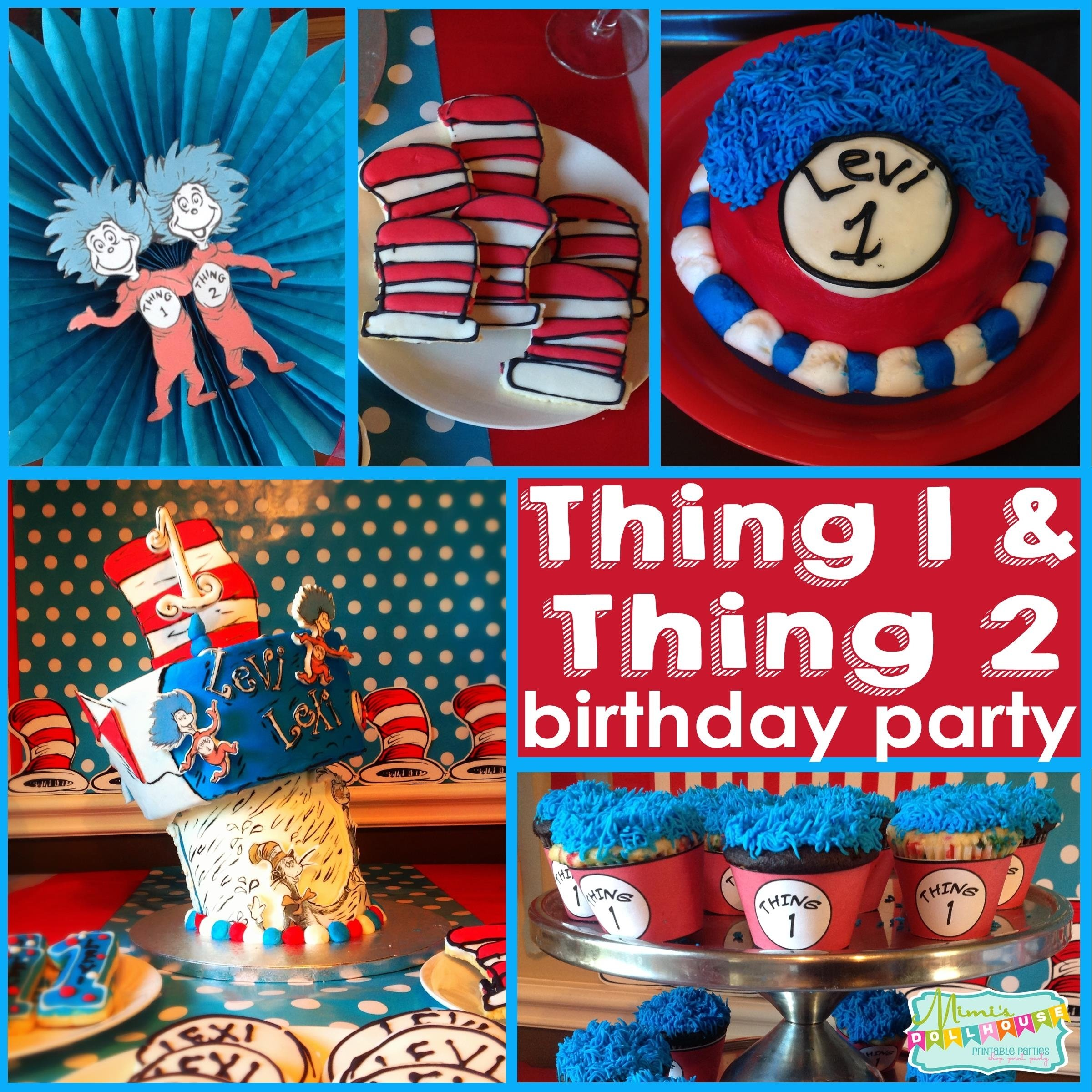 10 Lovely Thing 1 And Thing 2 Birthday Party Ideas thing 1 and thing 2 party twins first birthday party oh what fun 2020