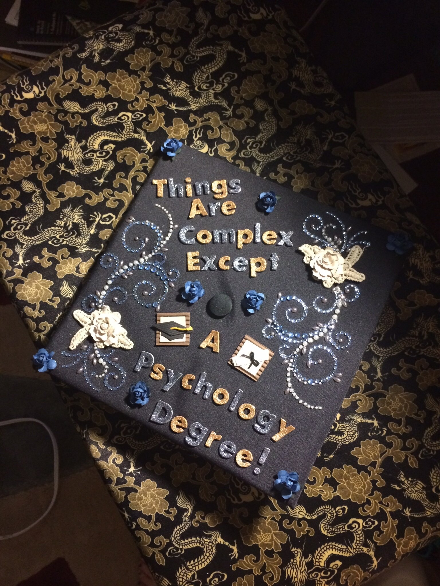 10 Most Recommended College Graduation Cap Decoration Ideas things are complex except a psychology degree psychology cap 2020