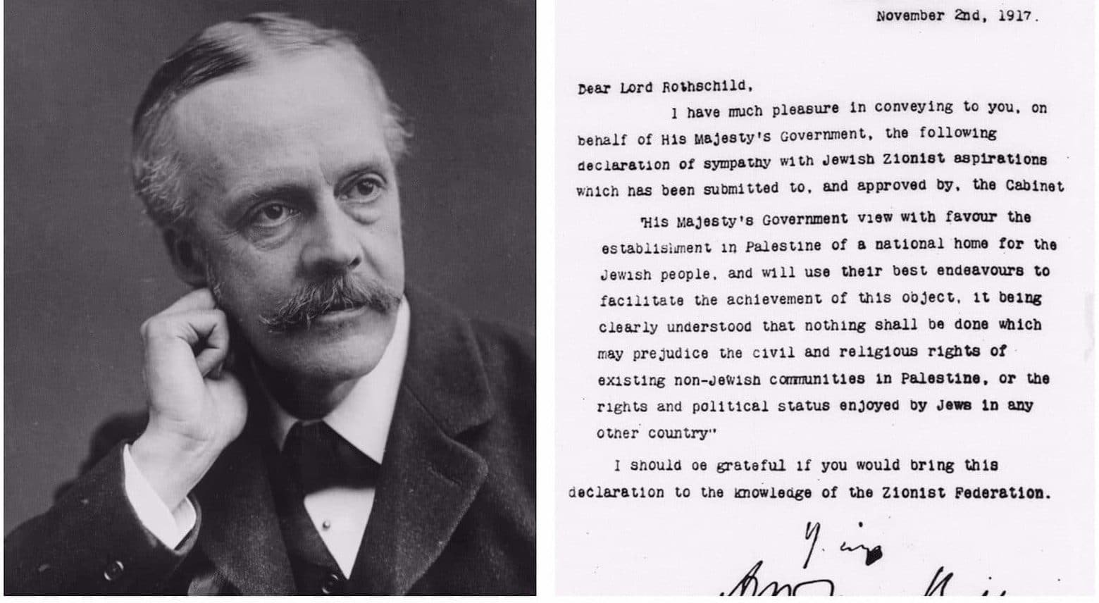 10 Fantastic The Balfour Declaration Of 1917 Supported The Idea Of A things people forget about the balfour declaration 100 years on 2020