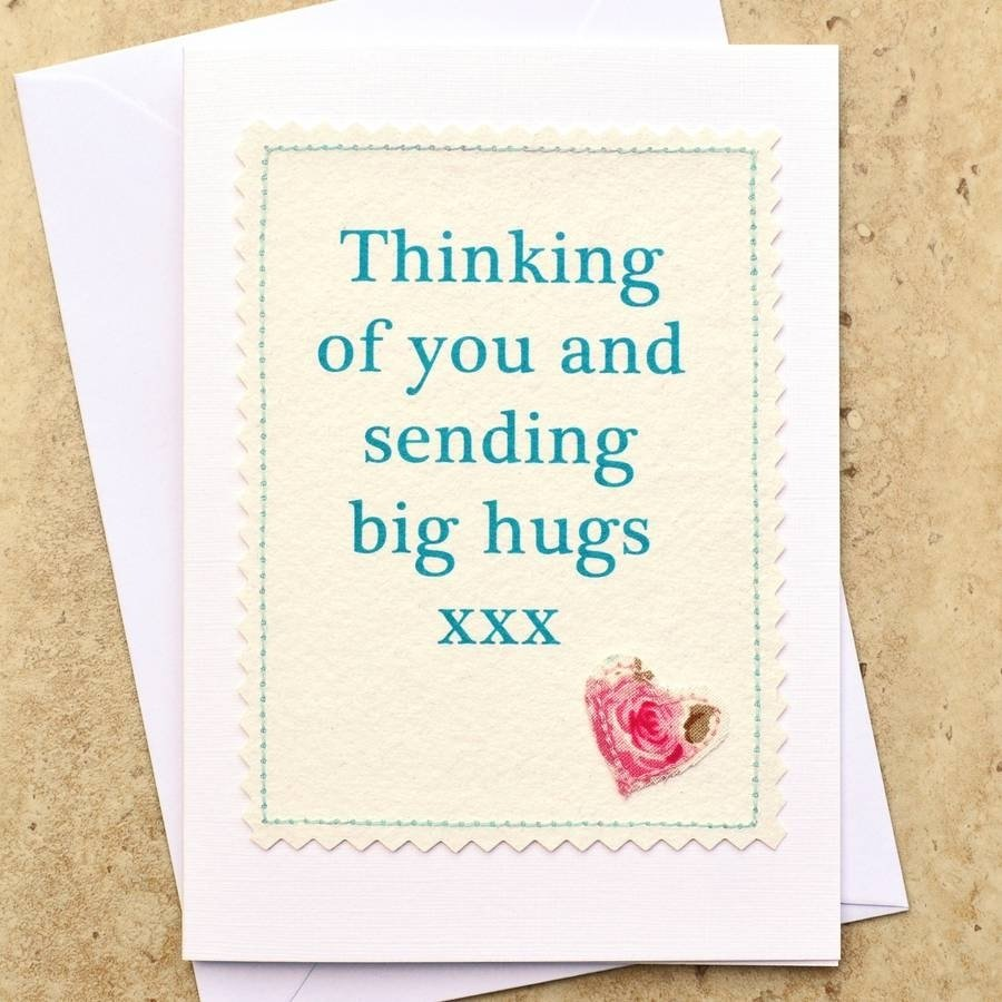 10 Most Popular Thinking Of You Card Ideas thinking of you and sending big hugs card cards handmade sorry