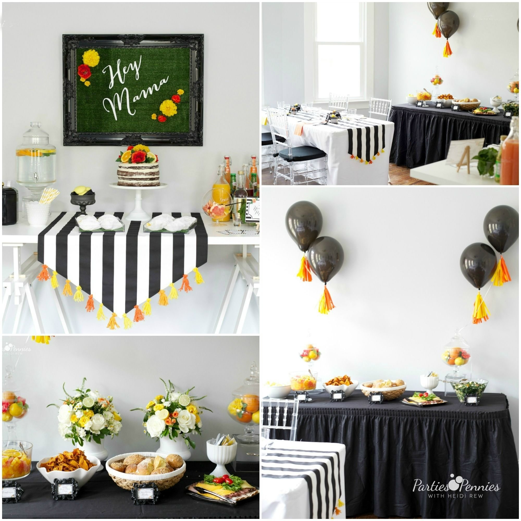 10 Great Black And White Baby Shower Ideas this black and white baby shower theme with pops of yellow and 2021