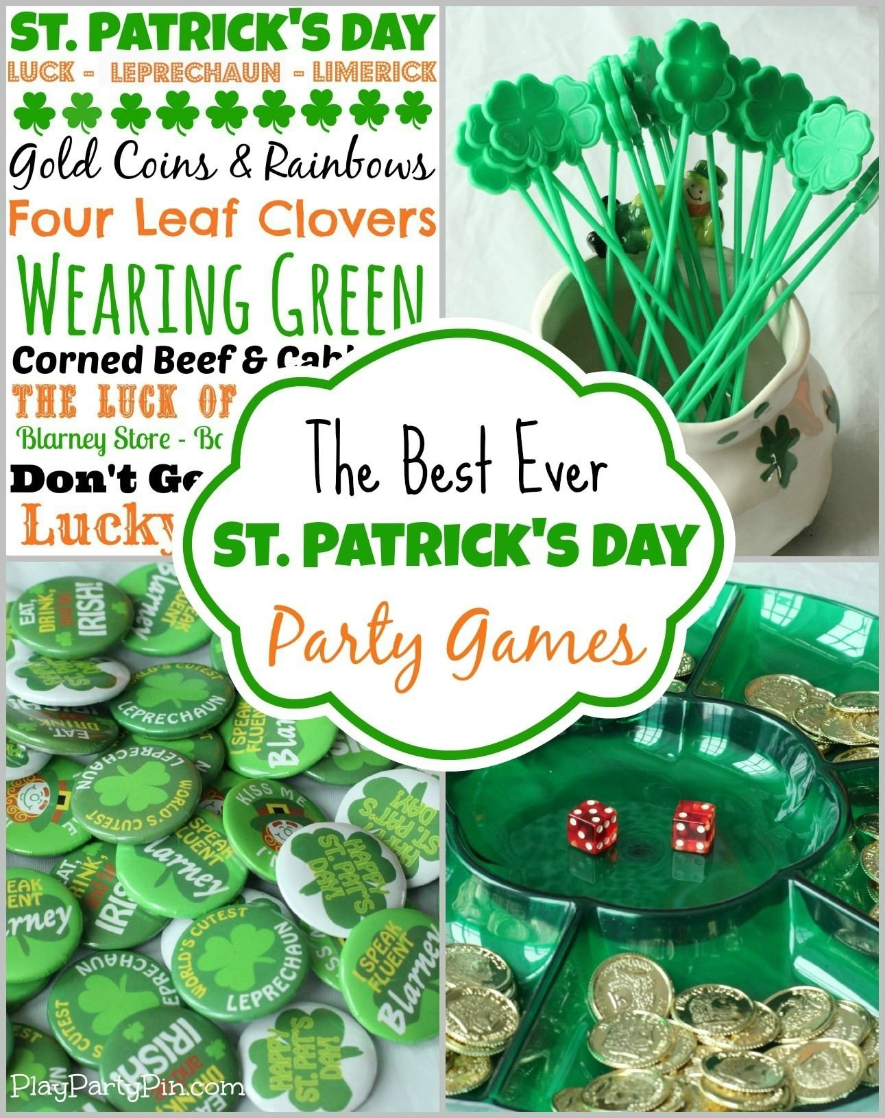 10 Lovable St Patrick Day Party Ideas this blog has all sorts of great party game ideas free st 2020