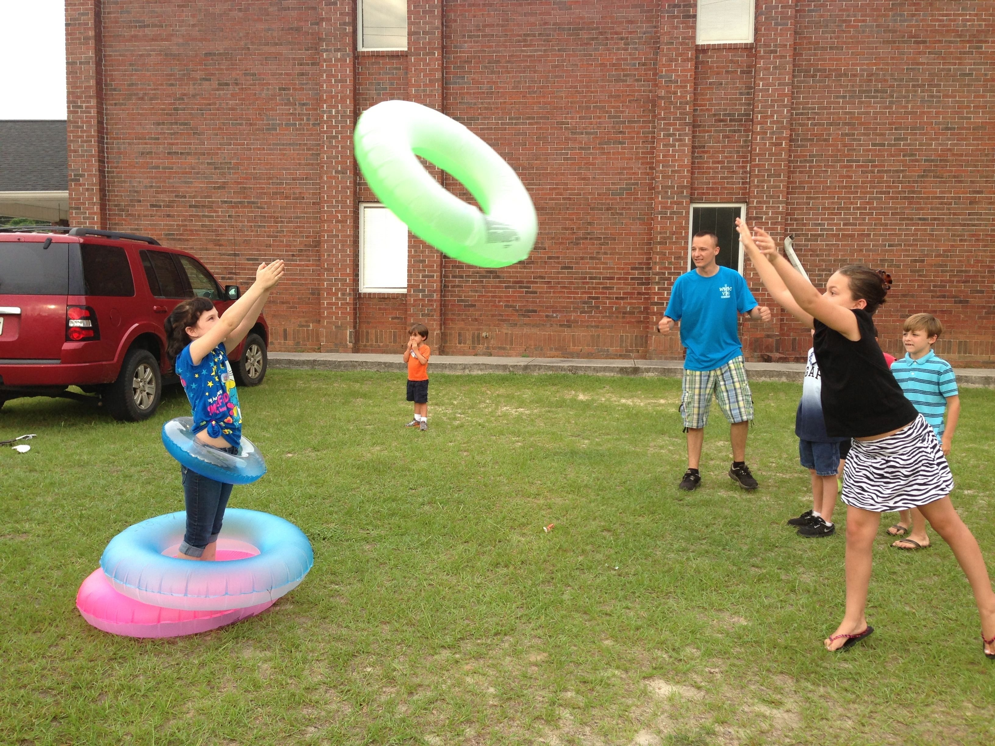 10 Awesome Relay Race Ideas For Adults this could be a really fun camp game human ring toss kids fun 2020