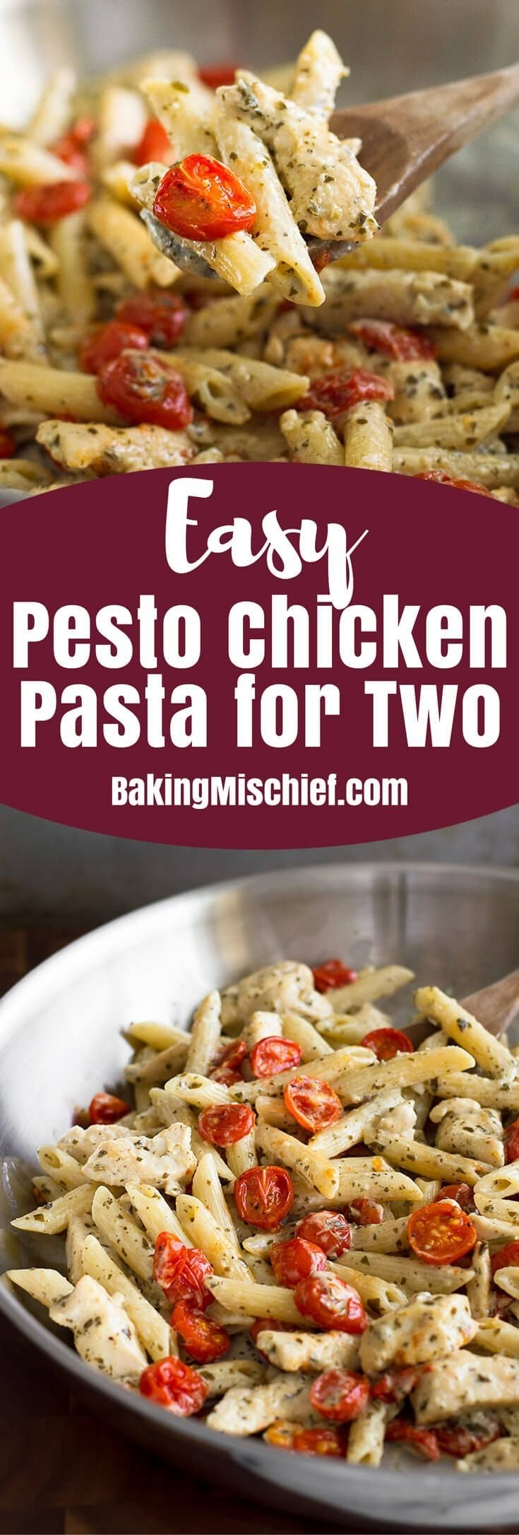 10 Cute Dinner Ideas For Two Cheap this easy pesto chicken pasta for two is a perfect easy pasta dinner 1 2020