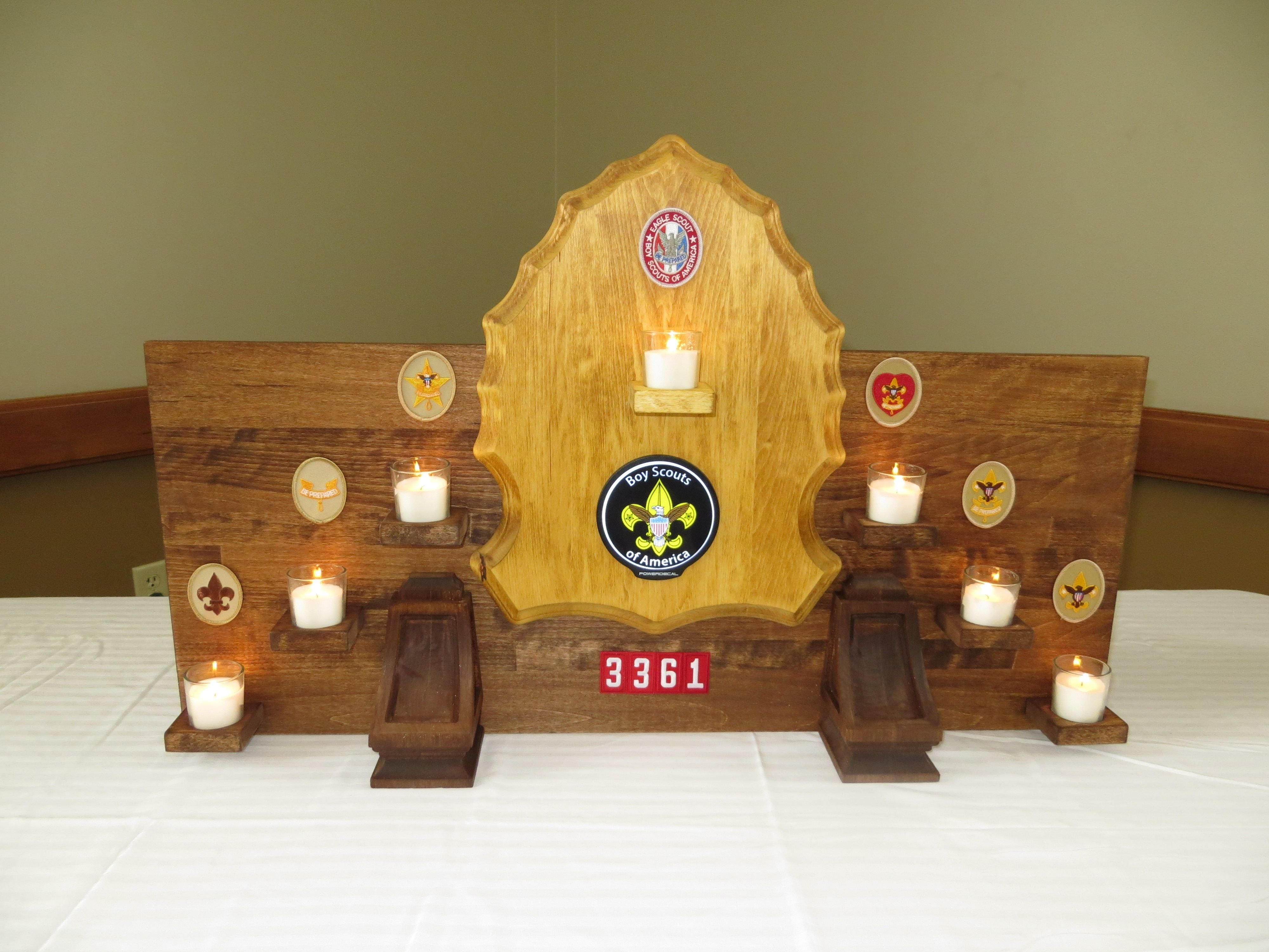 10 Perfect Eagle Court Of Honor Ideas this is a candle holder mark and ben made for our boy scout court of