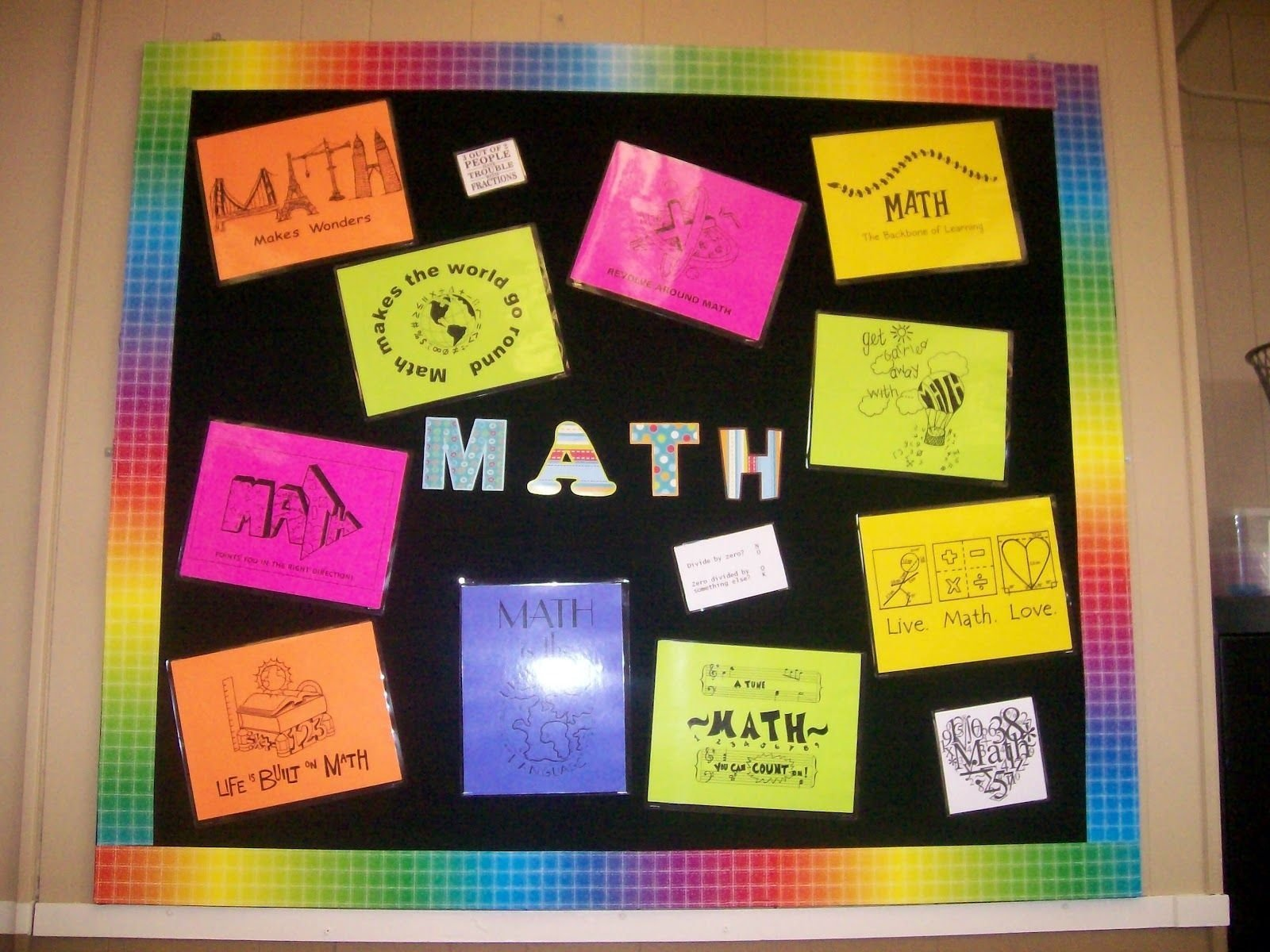 10 Attractive High School Math Bulletin Board Ideas this is the bulletin board i plan on changing out as the year 2020