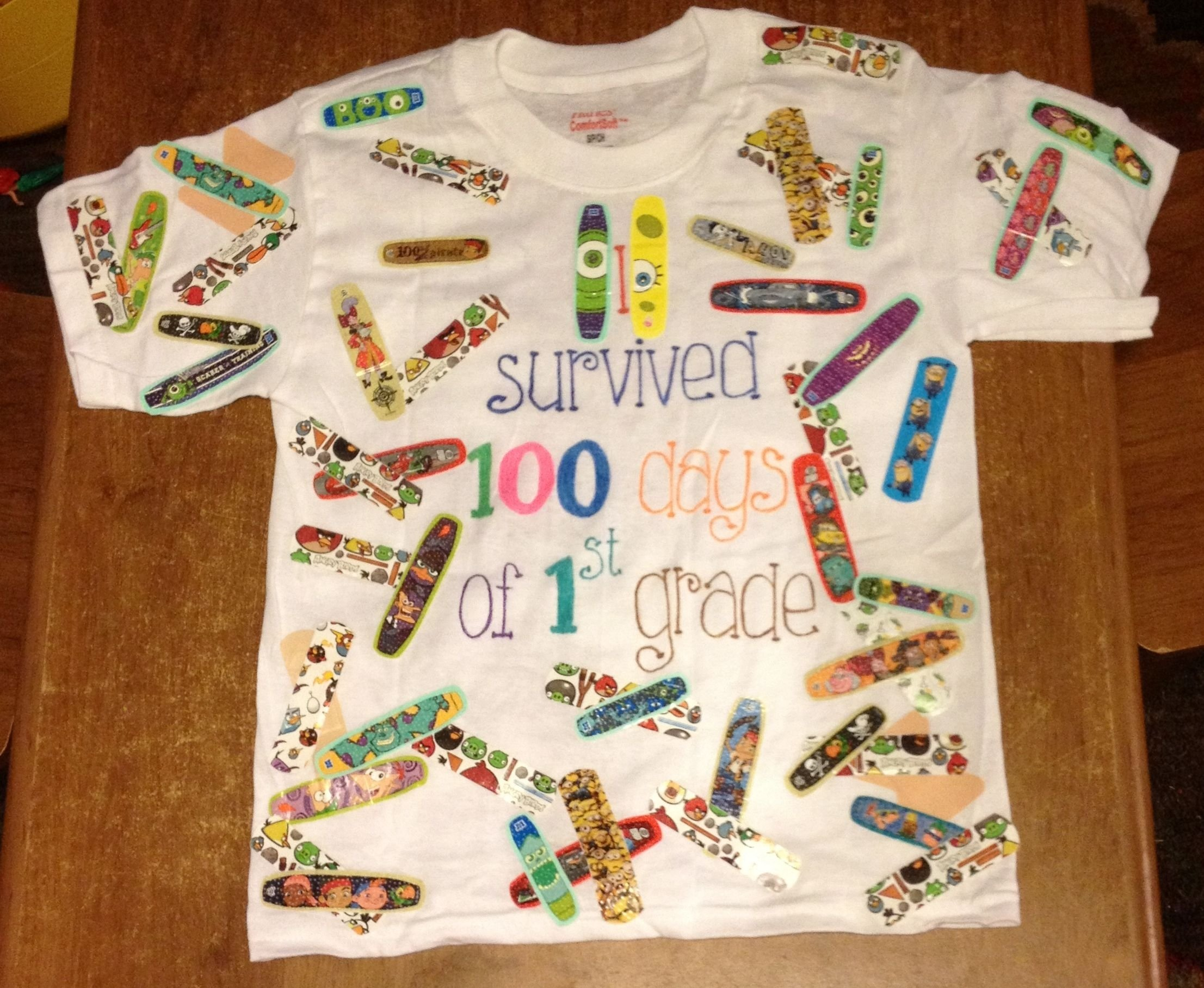 10 Unique 100Th Day Of School Ideas this is the cutest 100th day of school t shirt idea ever use band 2 2020