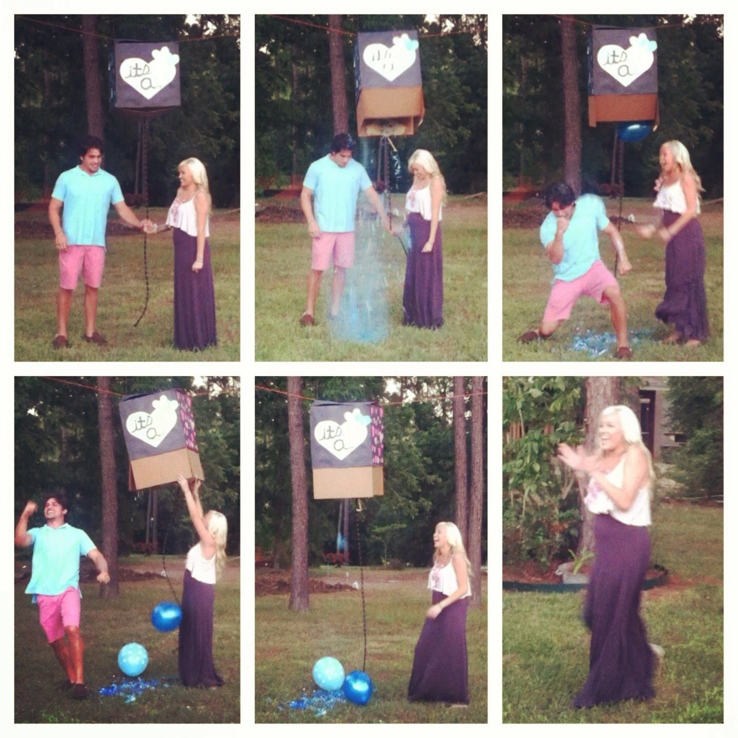 10 Best Boy Or Girl Reveal Ideas this is the way i did my gender reveal hung a box tied a rope to 2021