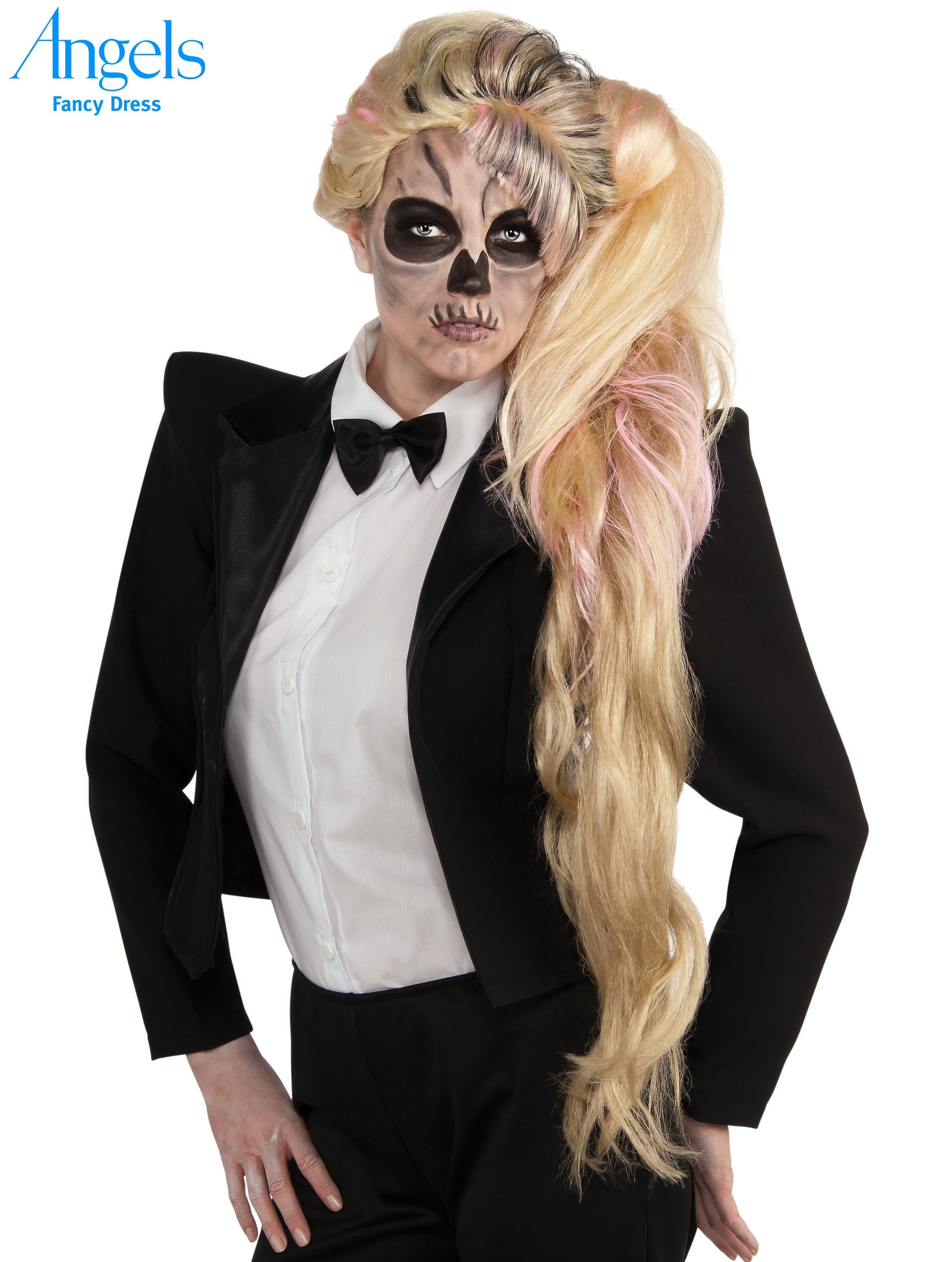 10 Stunning Lady Gaga Halloween Costume Ideas this wig is from the lady gaga skeleton look in her born that way 2020