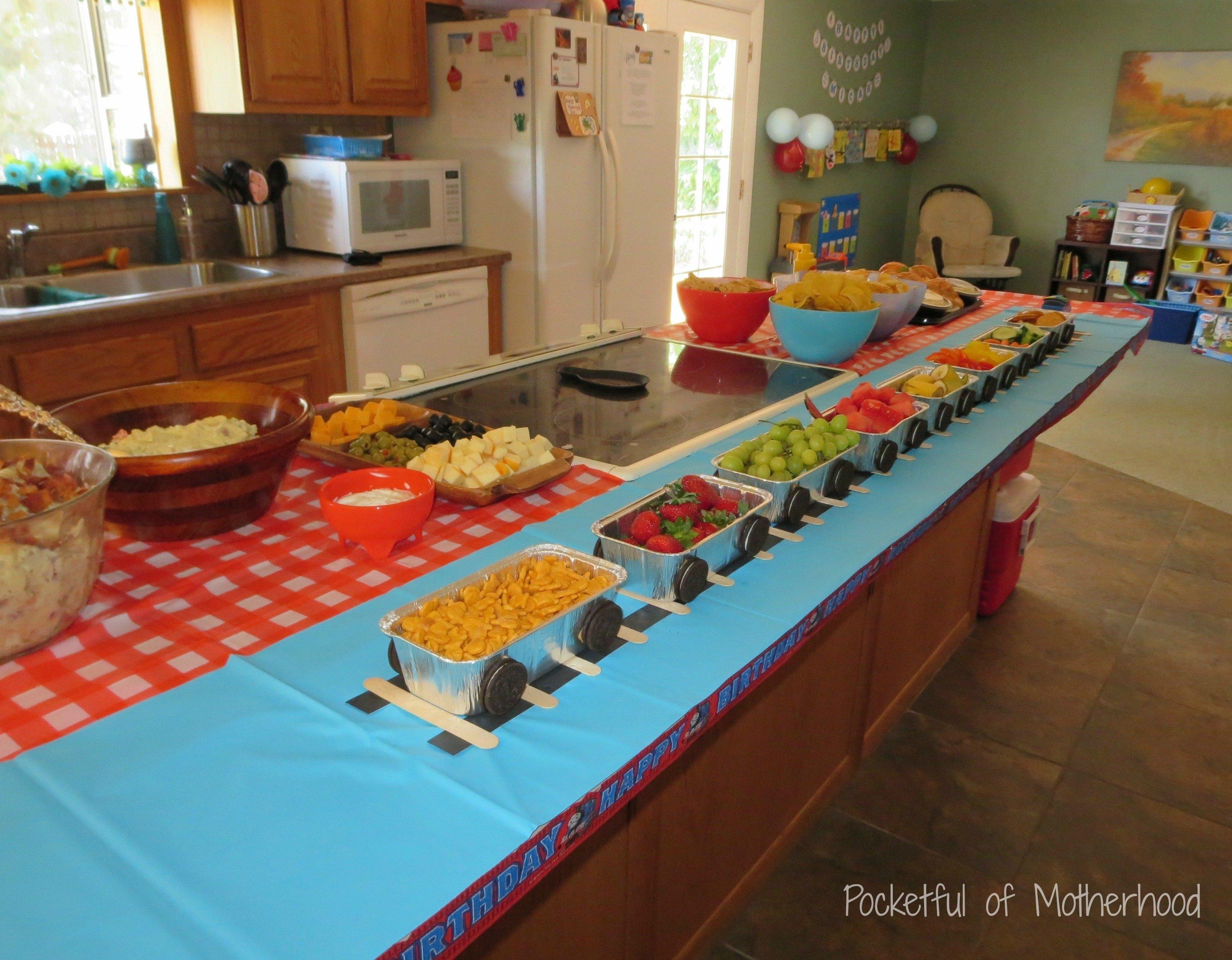 10 Fabulous Thomas The Train Party Food Ideas thomas and friends themed birthday party pocketful of motherhood 2021
