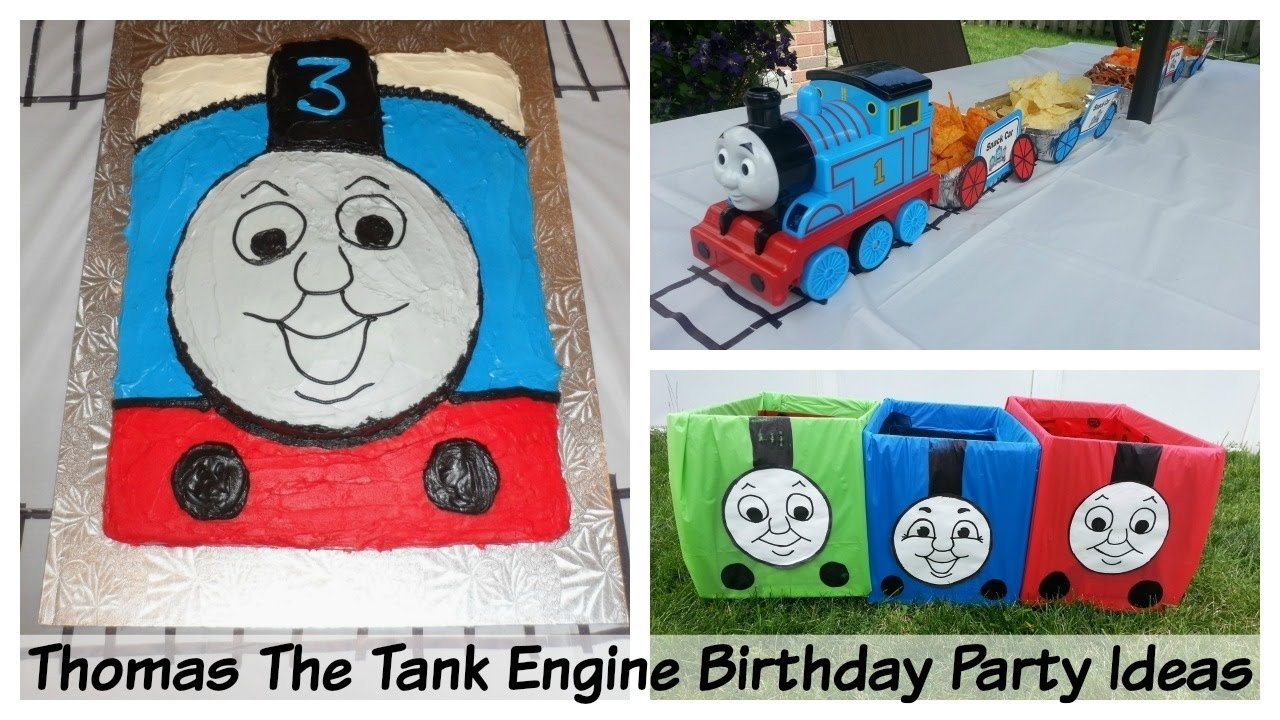 thomas the tank engine birthday party ideas - fun and easy! - youtube