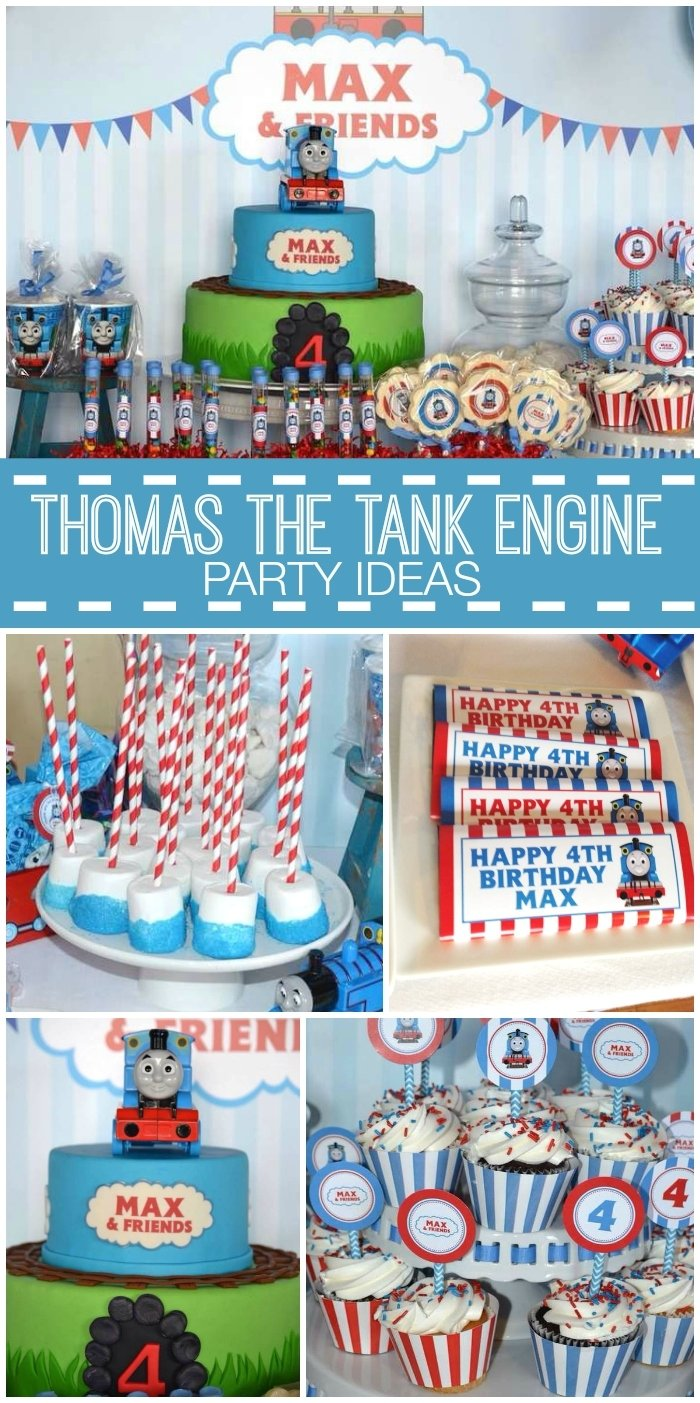 10 Most Recommended Thomas And Friends Birthday Party Ideas The Train Max 4th