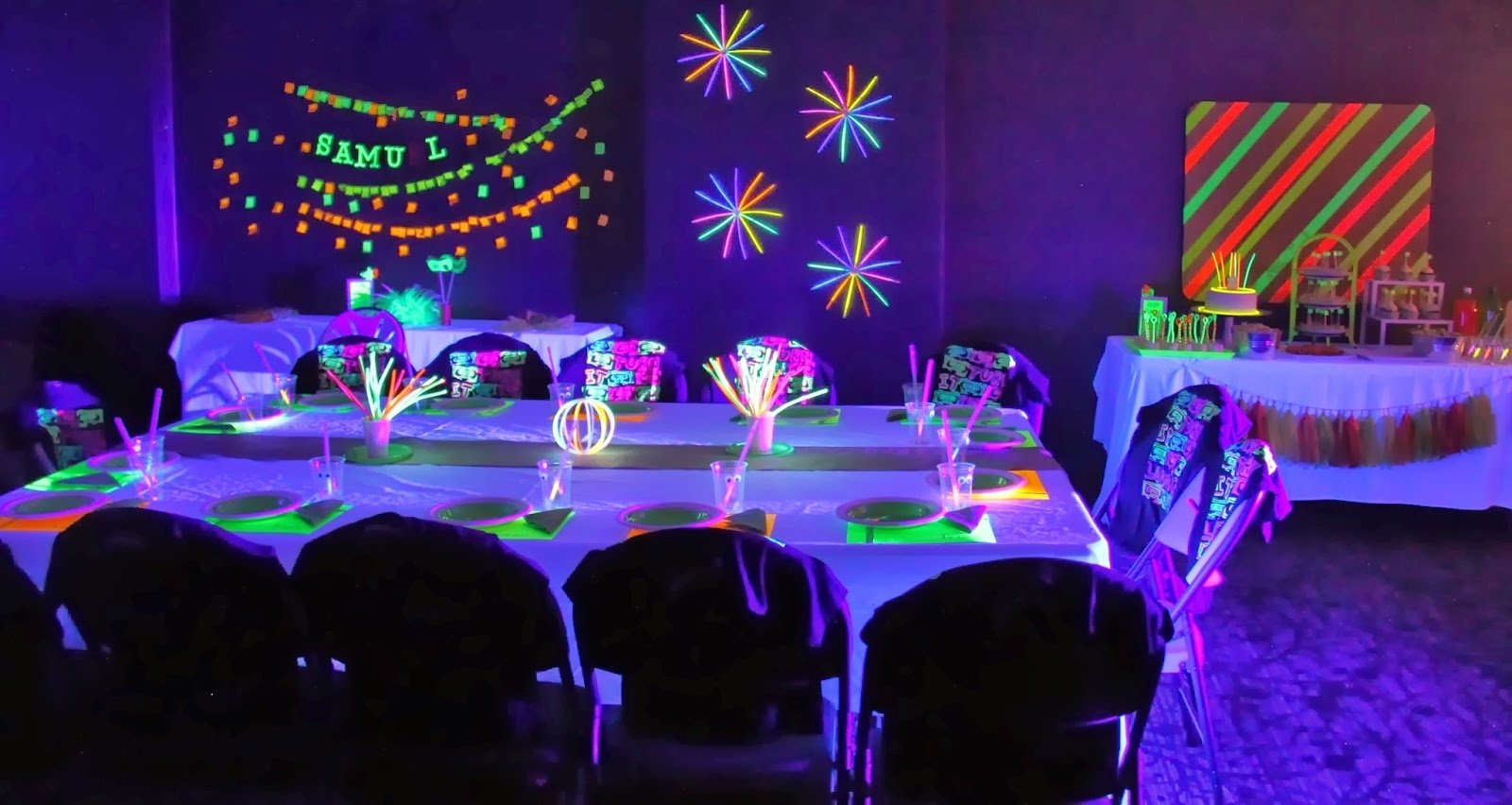 10 Cute Party Ideas For 16 Year Old Boy threelittlebirds events neon glow in the dark birthday party 6 2020