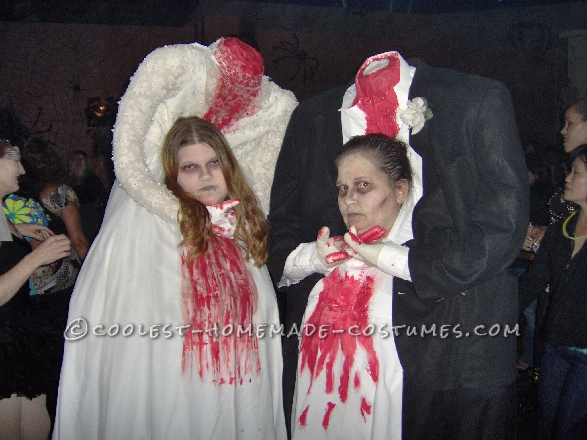 thrift store headless bride and groom couple costume | homemade
