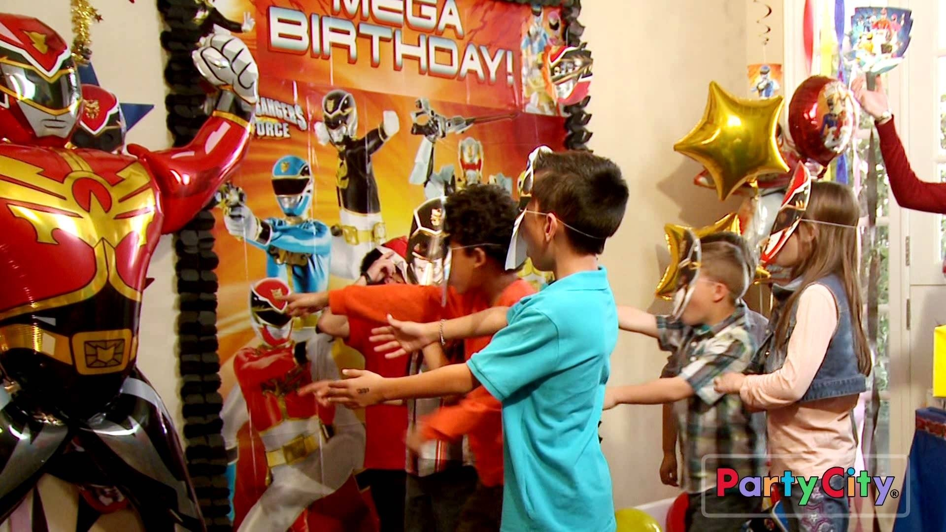 throw a megaforce power rangers party! - youtube